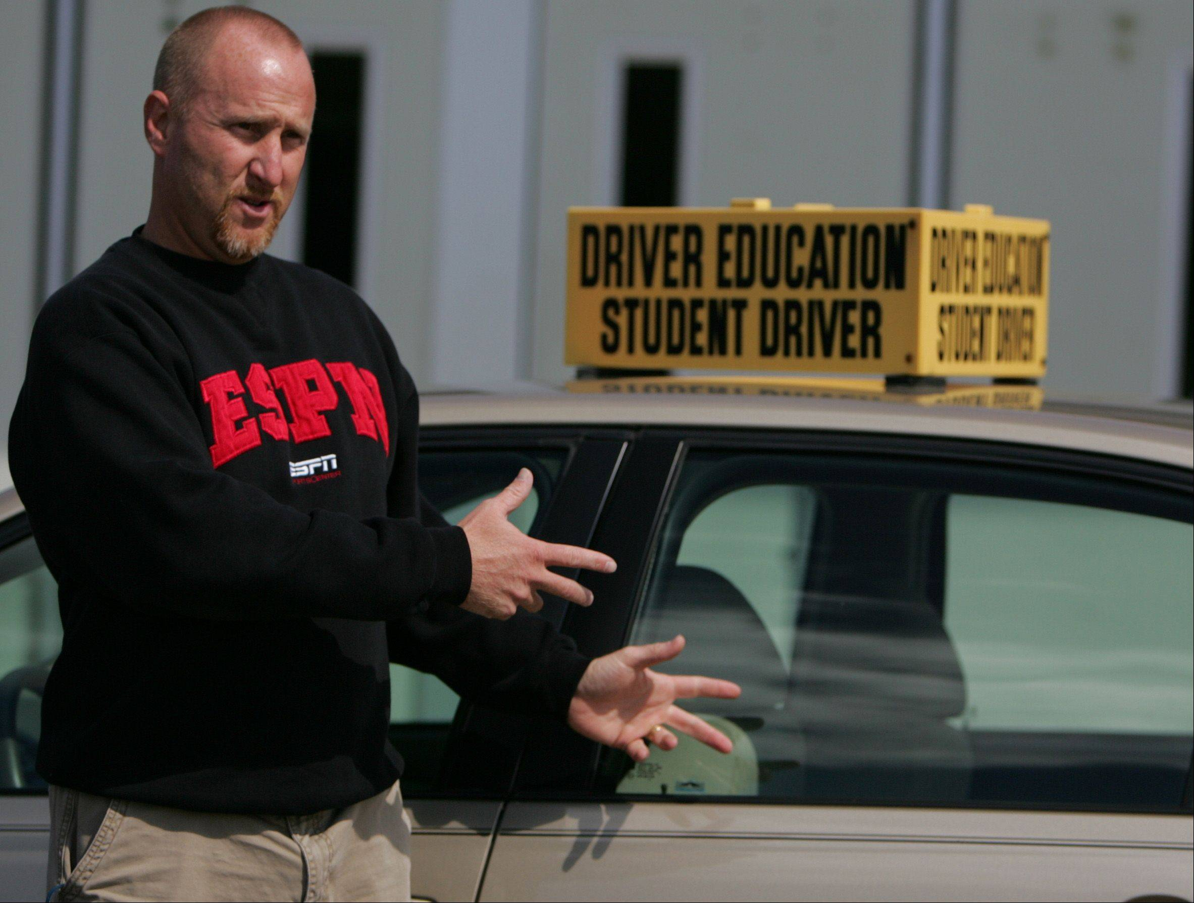 Tim Lazzarotto is the Leader of the Drivers Education program at Prospect High School.