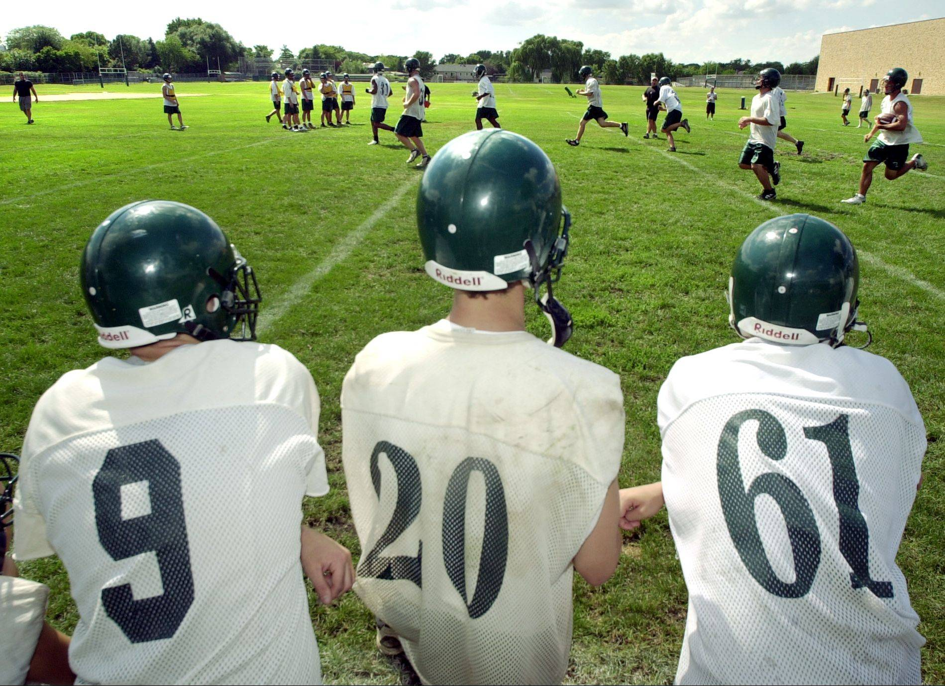 First day of Fremd High School football practice Wednesday.
