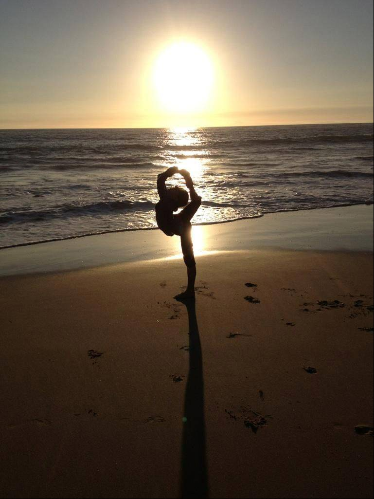 Photo of daughter Megan in Crystal Cove State Park near Laguna Beach, CA.