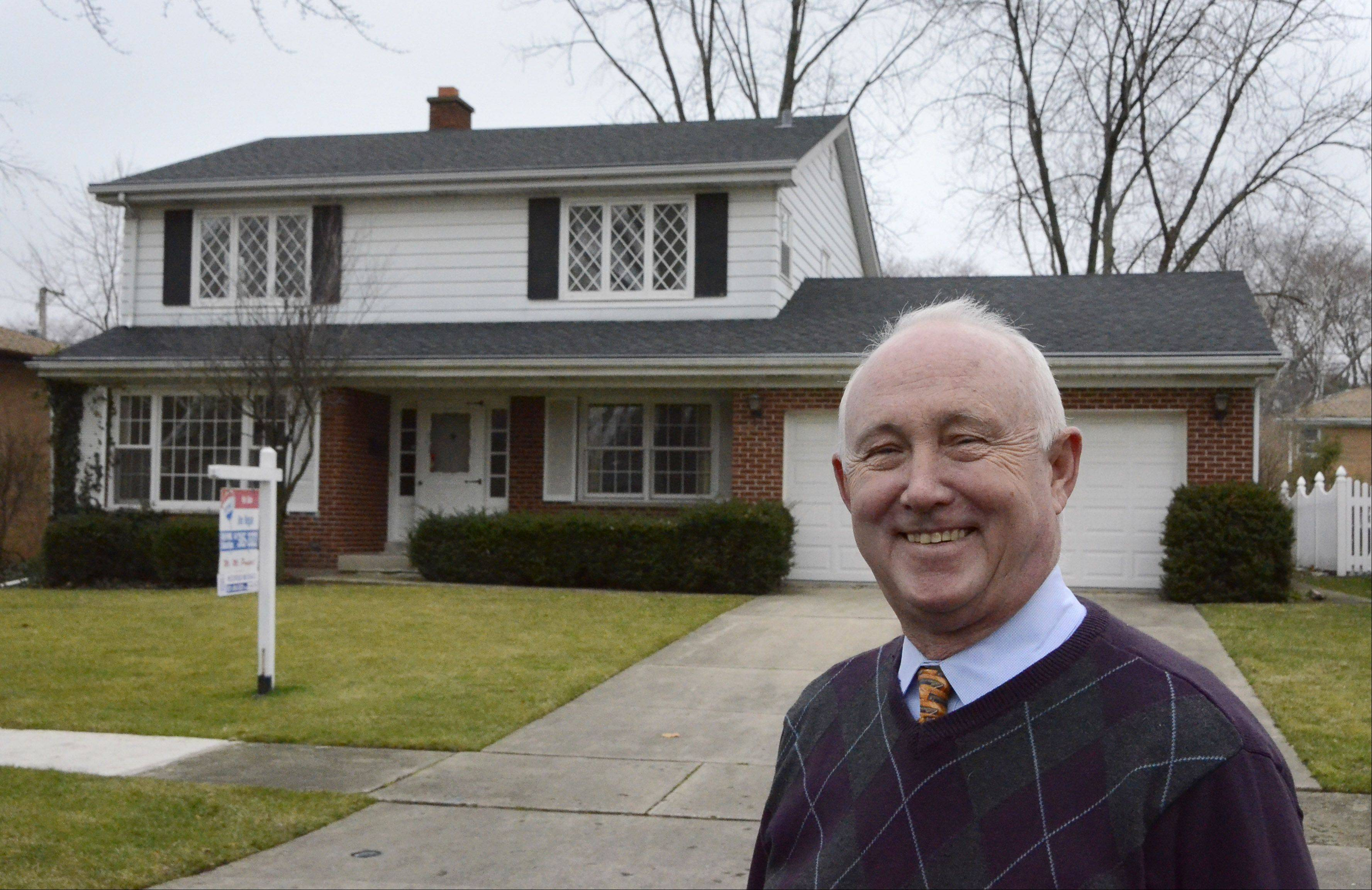 Realtor Jim Regan of RE/MAX Suburban believes the real estate market in the Northwest suburbs has bottomed and is on its way back up.