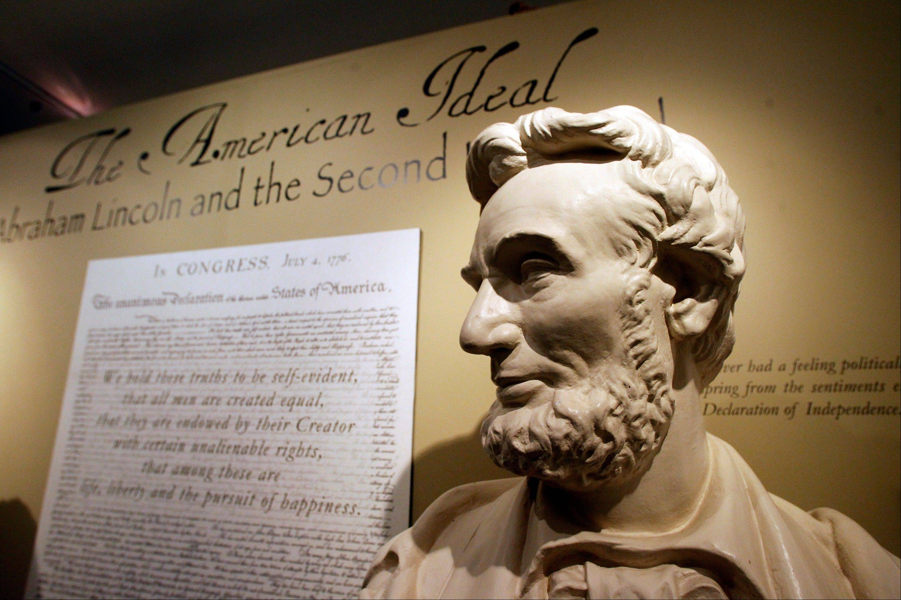 A bust of Abraham Lincoln decorates the Robert Todd Lincoln mansion.