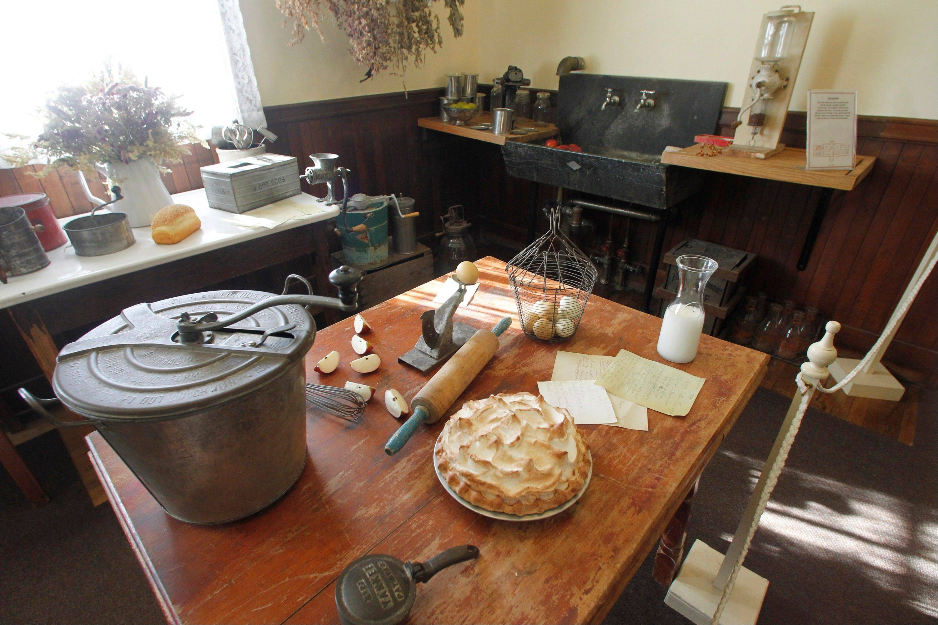 The kitchen at the Robert Todd Lincoln mansion.