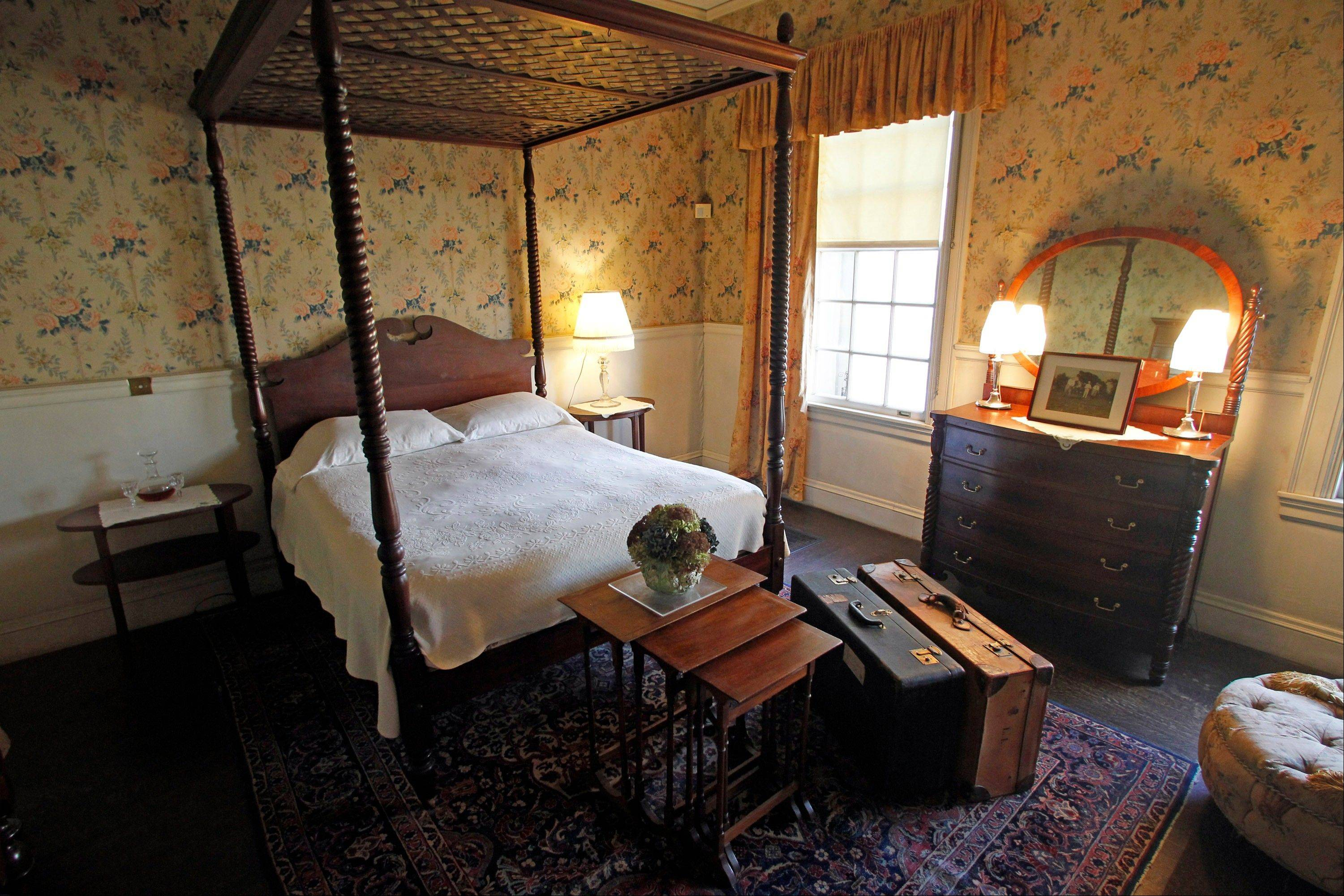The Taft bedroom at the Robert Todd Lincoln mansion Hildene in Manchester, Vt.
