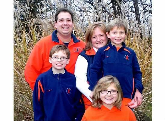 Alex Lancaster, 12, of Round Lake, is pictured with his parents, Jude and Kristina Lancaster, and his siblings Emma, 10, and Mason, 7.