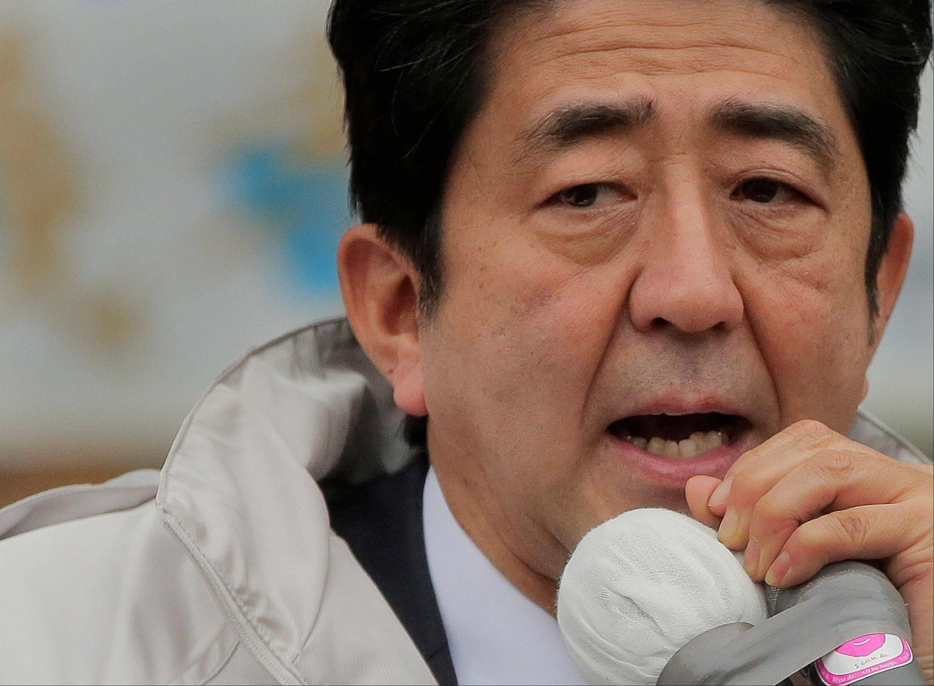 Japan's main opposition Liberal Democratic Party President Shinzo Abe.