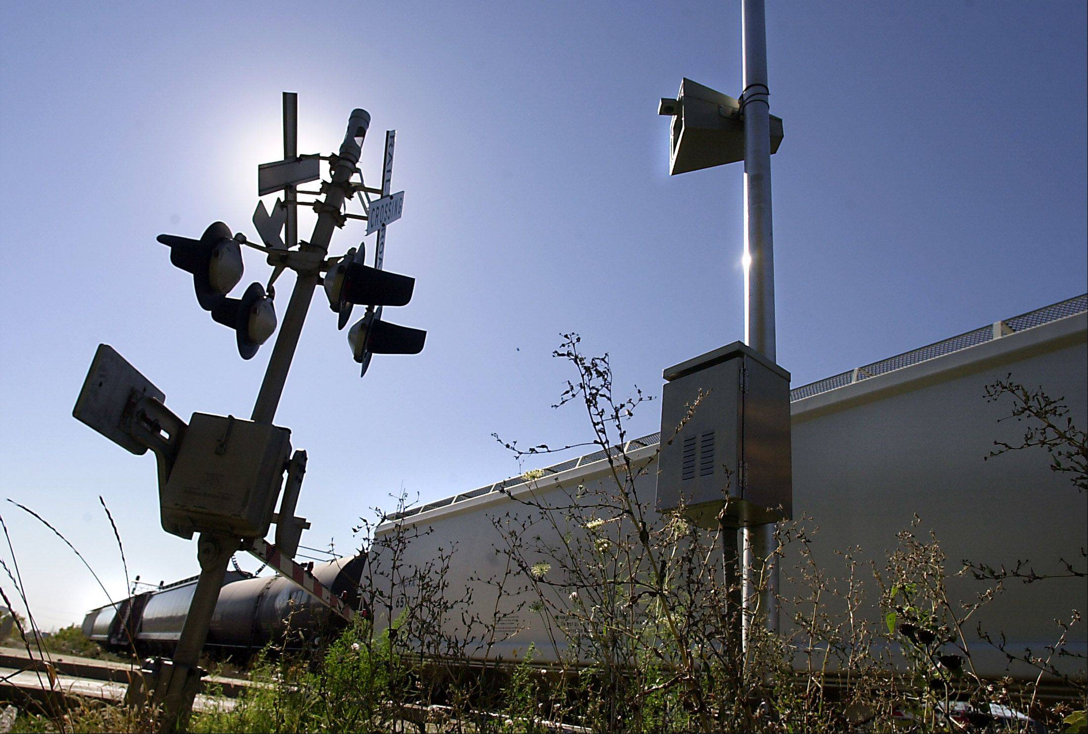 The automated train horn at the Allanson Road crossing in Mundelein is one of seven to be removed to reduce noise, village officials decided this week.