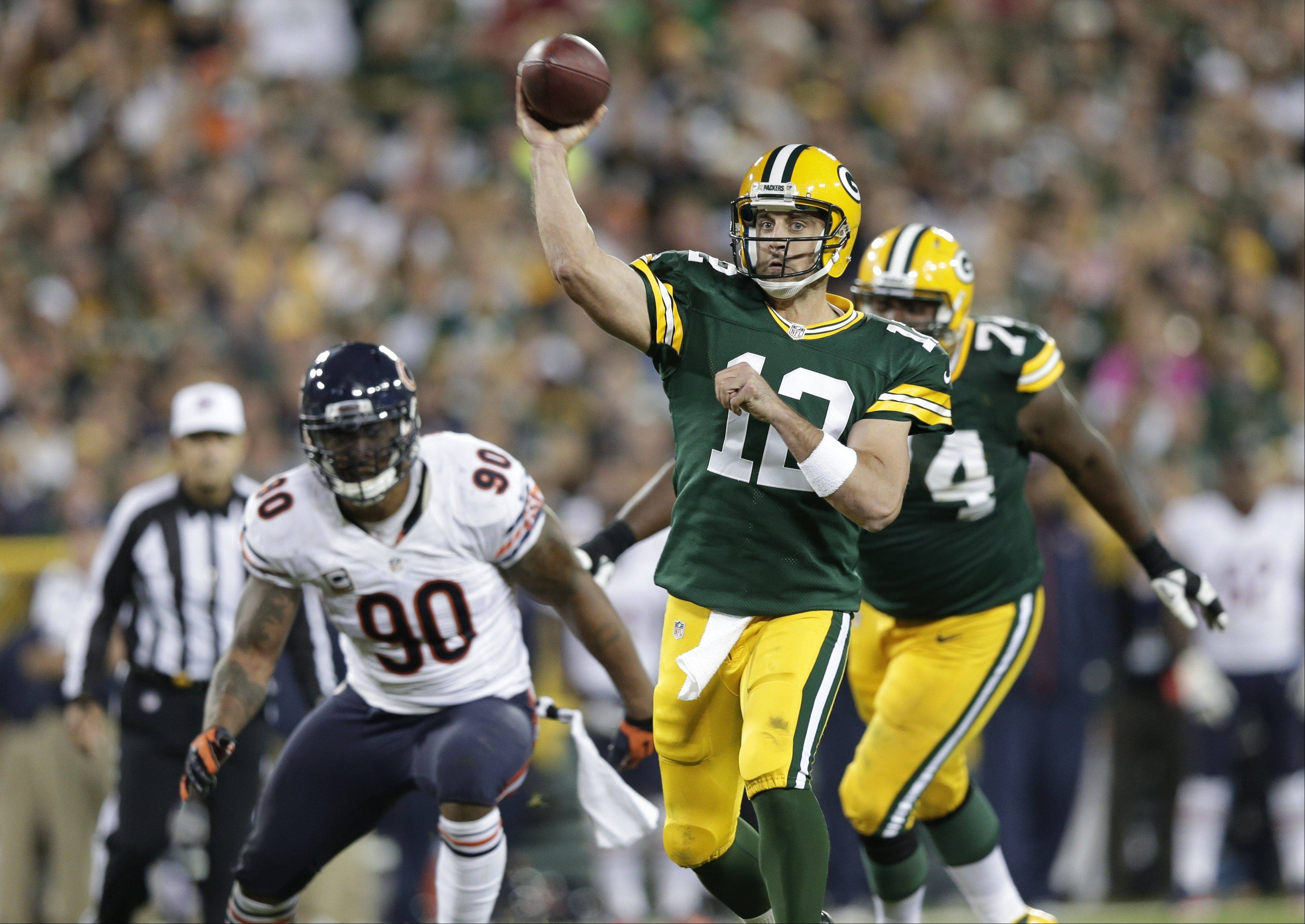 The Packers Aaron Rodgers has a 108.7 quarterback rating the last eight games.