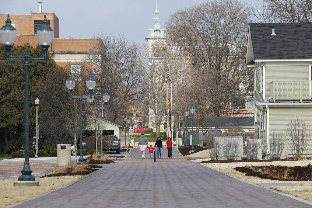 North Central College's new Sesquicentennial Walkway will serve as a pedestrian thoroughfare through the heart of the downtown Naperville campus.
