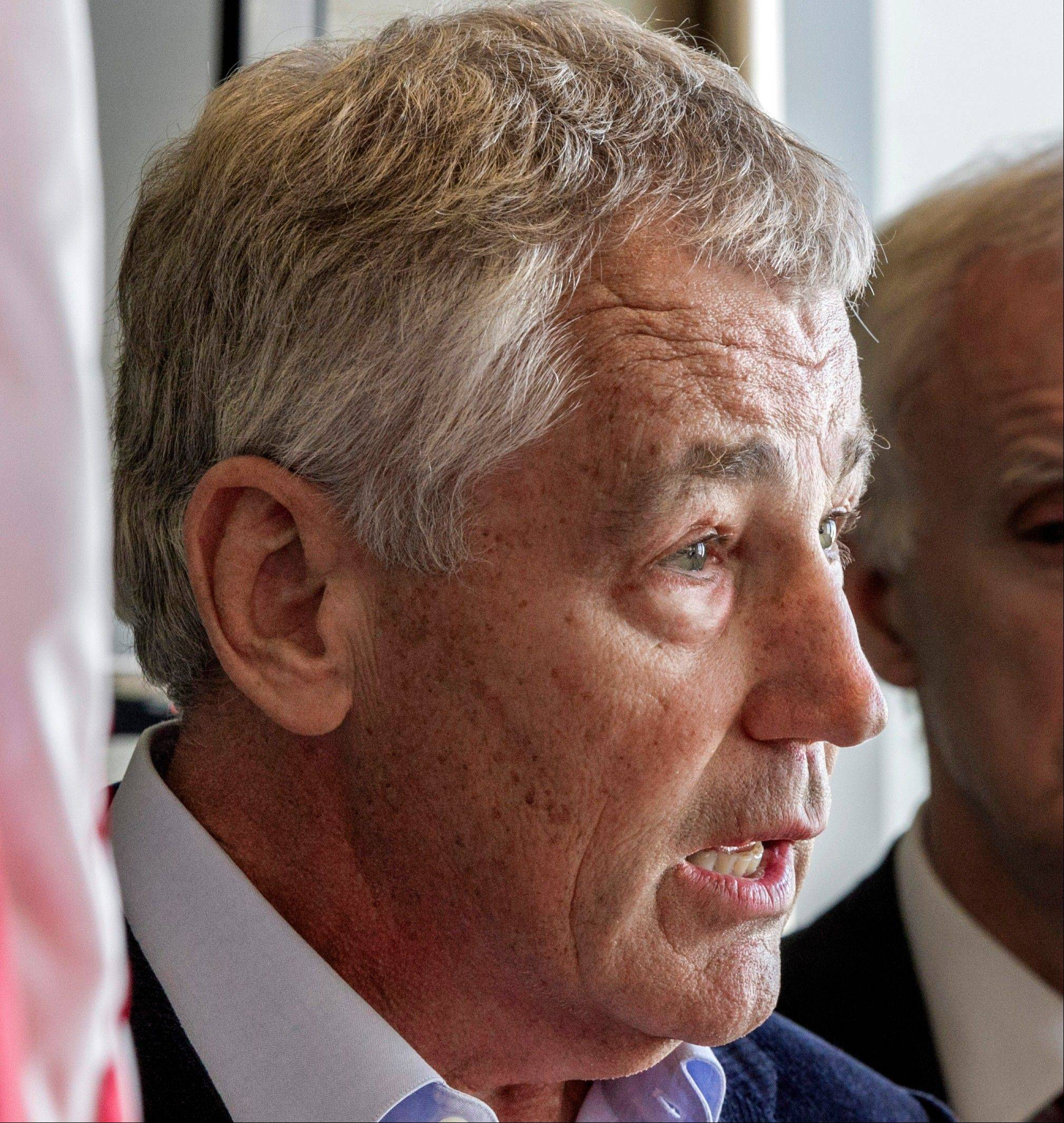 Former Nebraska Republican Sen. Chuck Hagel is President Barack Obama's top candidate for defense secretary,