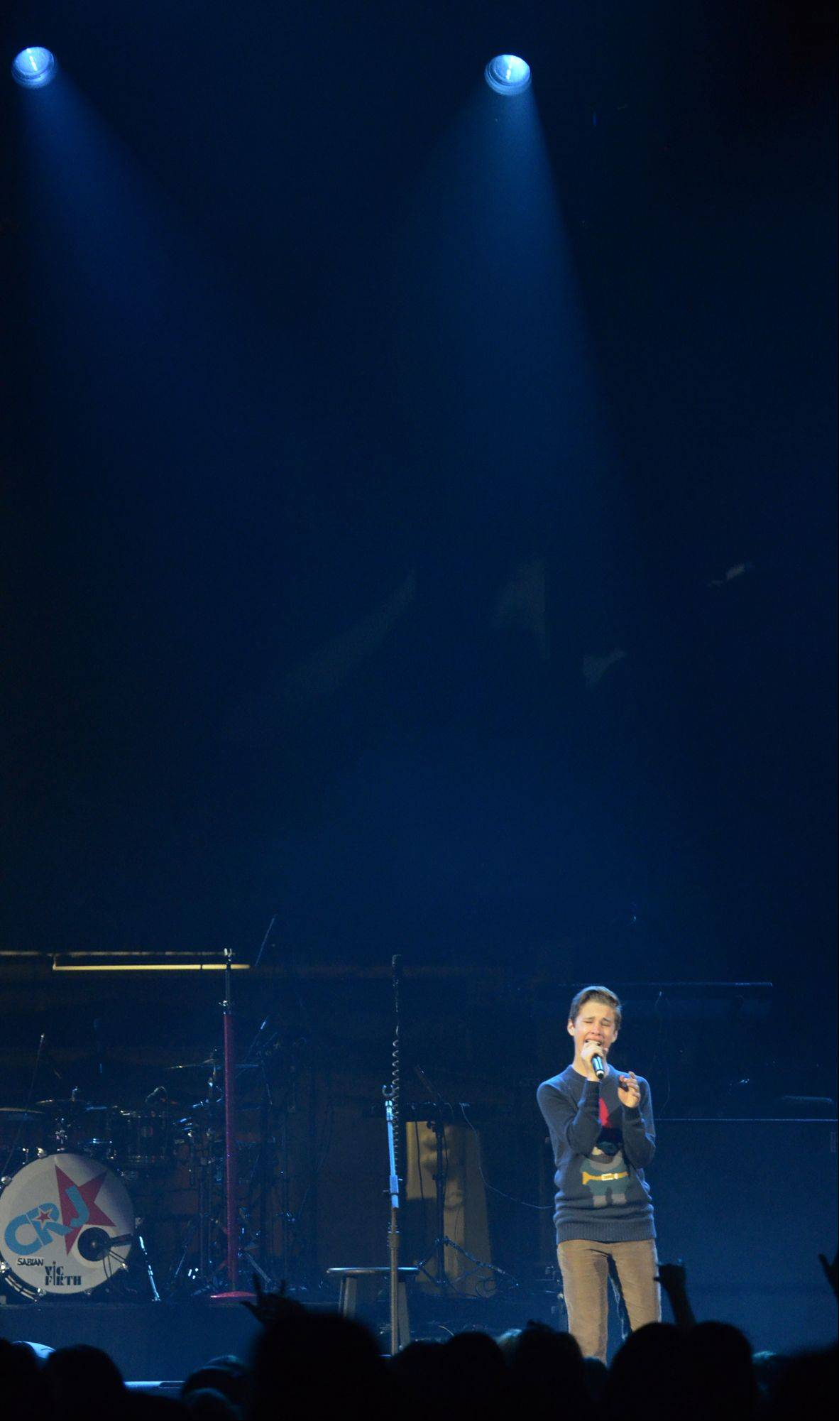 Ryan Beatty performs during the Jingle Bash concert at the Allstate Arena in Rosemont on Saturday, December 15th, 2012.