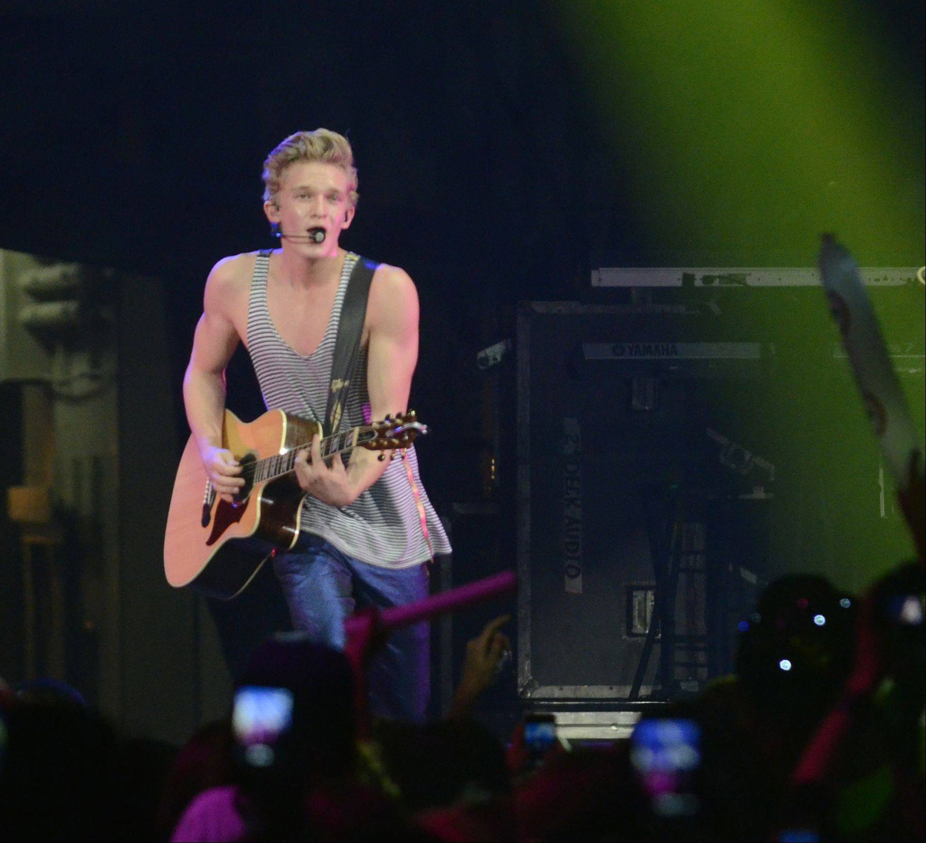 Cody Simpson performs during the Jingle Bash concert at the Allstate Arena in Rosemont on Saturday, December 15th, 2012.