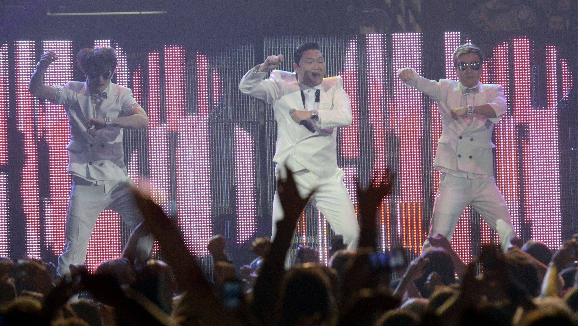 Psy performs during the Jingle Bash concert at the Allstate Arena in Rosemont on Saturday, December 15th, 2012.