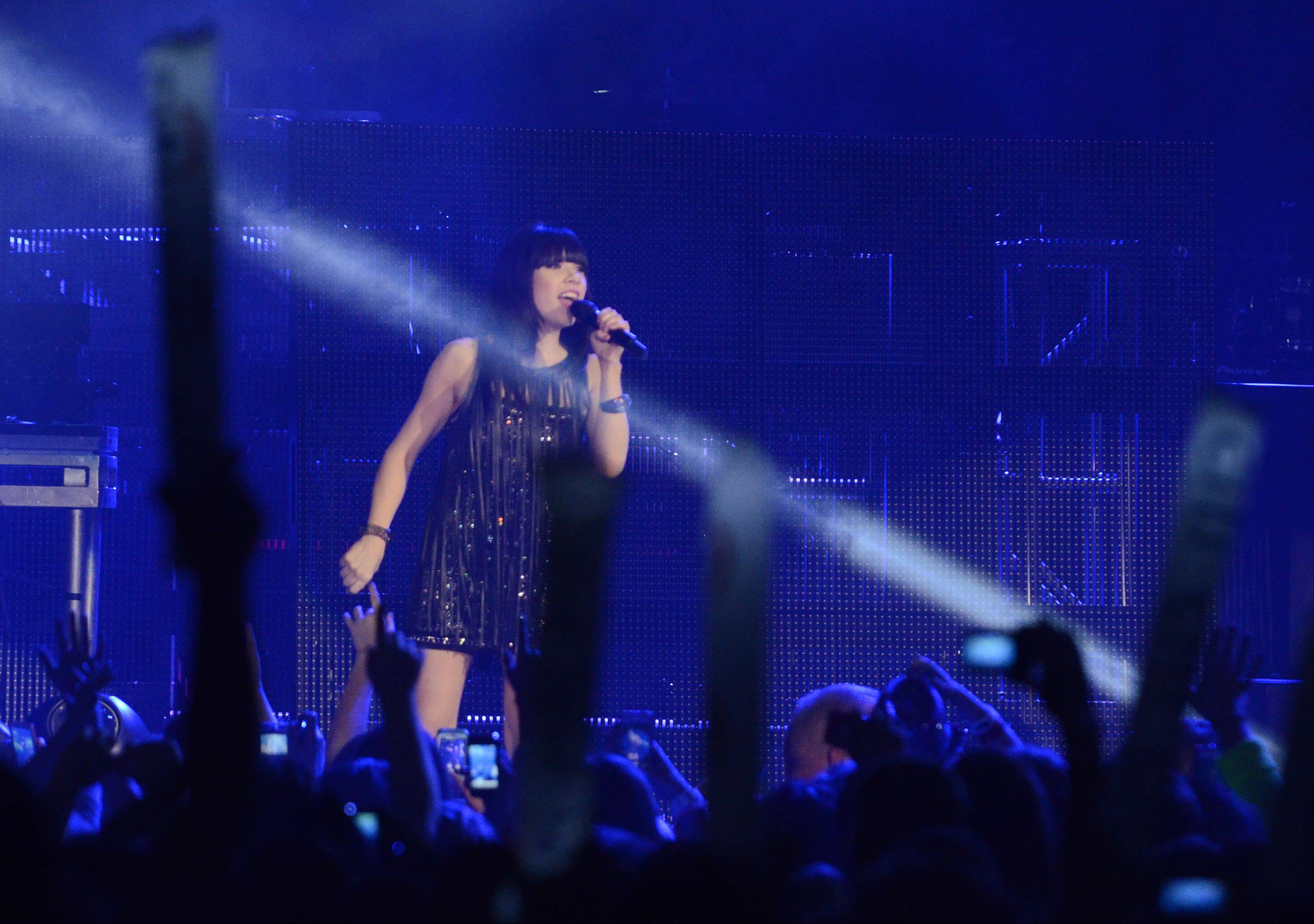 Carly Rae Jepsen performs during the Jingle Bash concert at the Allstate Arena in Rosemont on Saturday, December 15th, 2012.