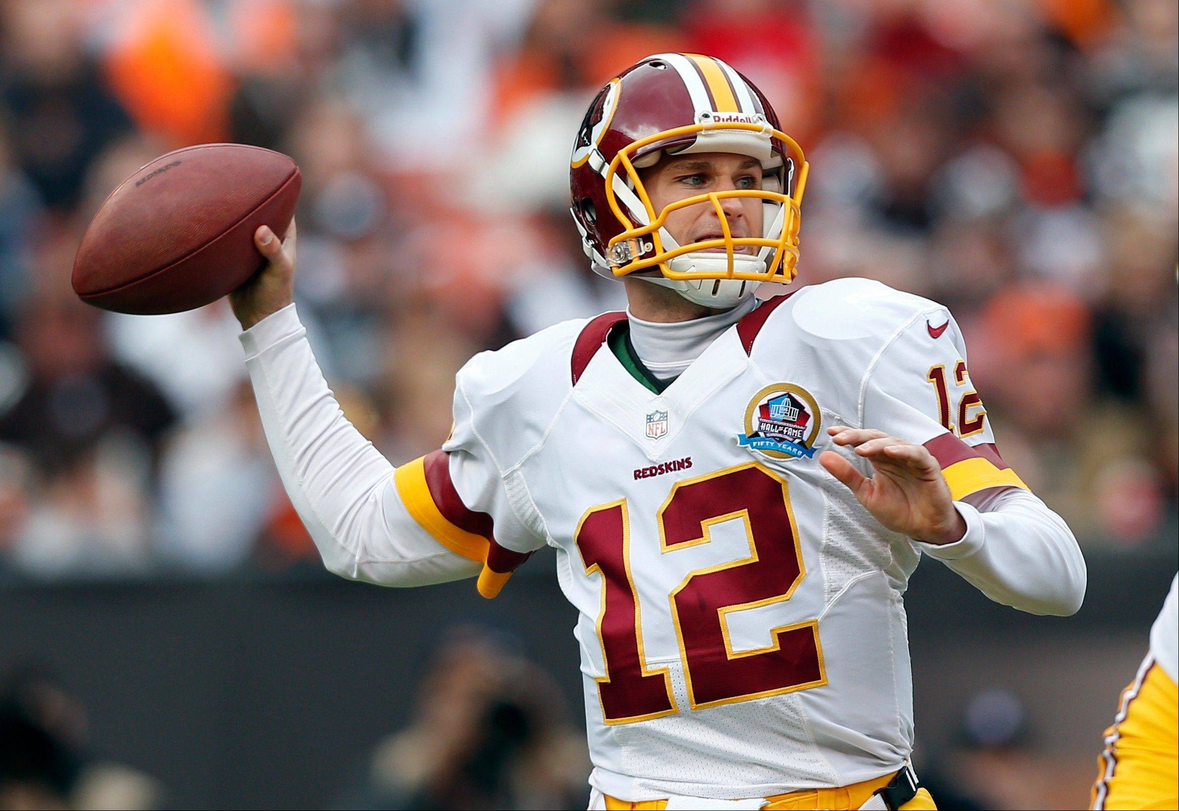 Washington Redskins quarterback Kirk Cousins passes against the Cleveland Browns in the first quarter in Cleveland, Sunday.