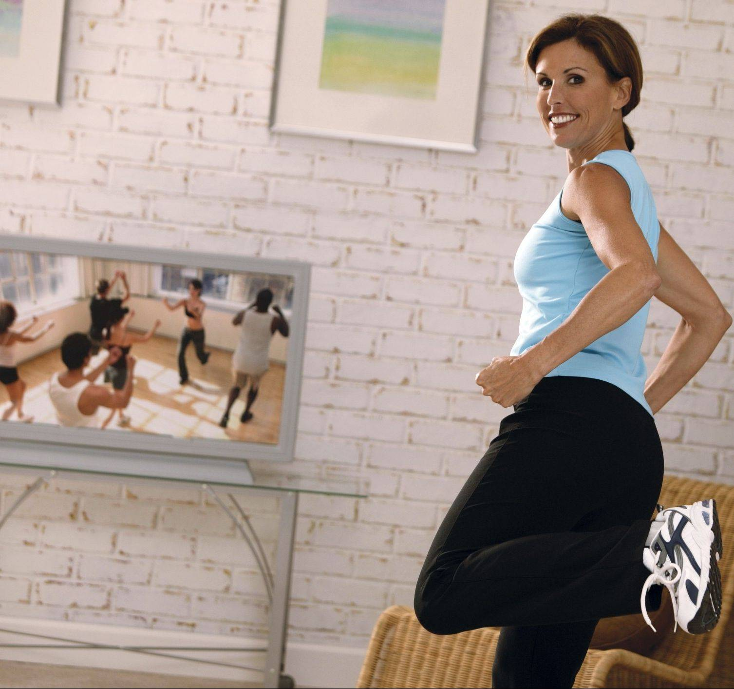 At-home workouts with a good DVD can be just has successful as classes at the gym.
