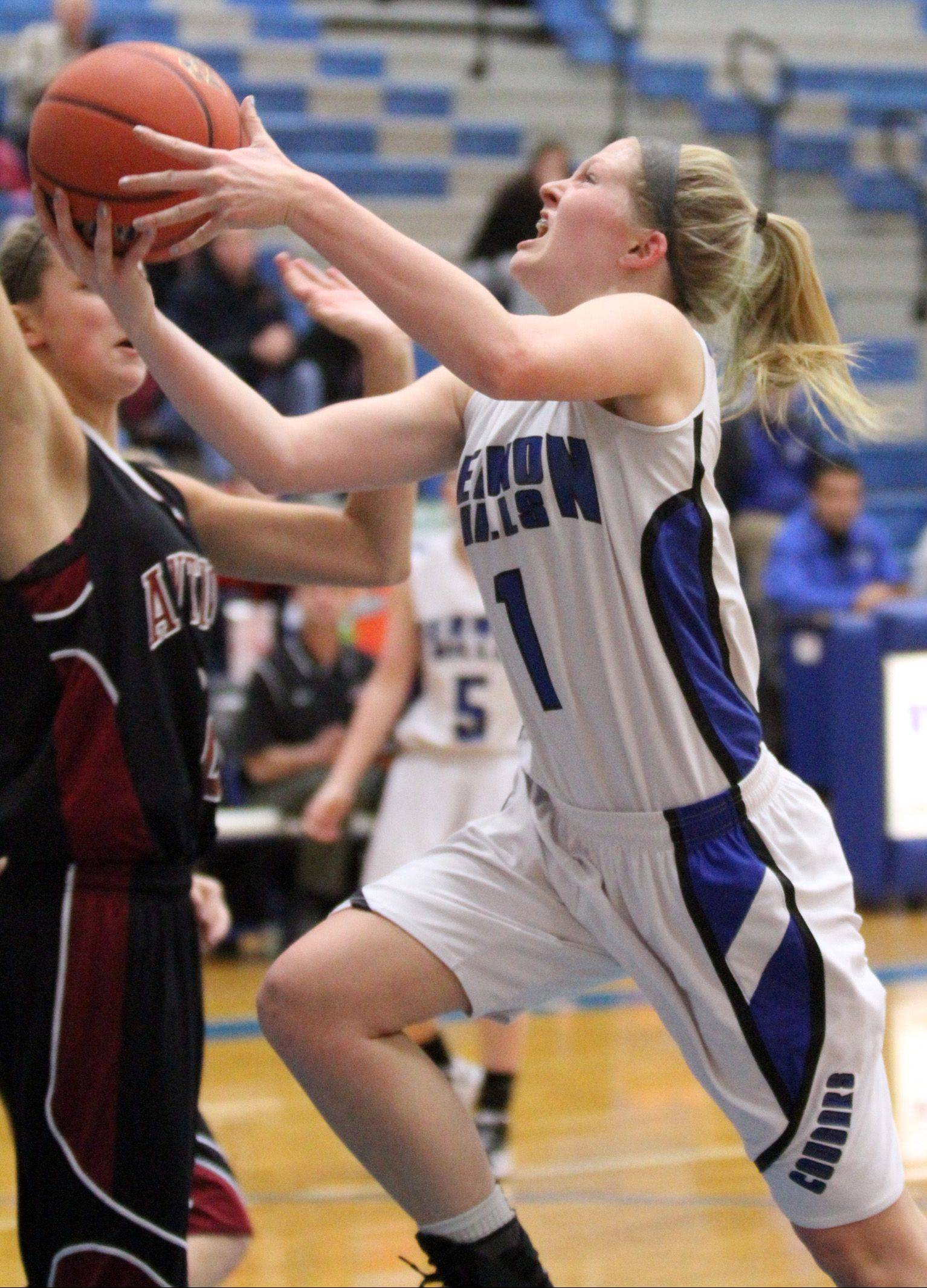 Vernon Hills� Sydney Smith drives in for a layup during Saturday�s game against Antioch.