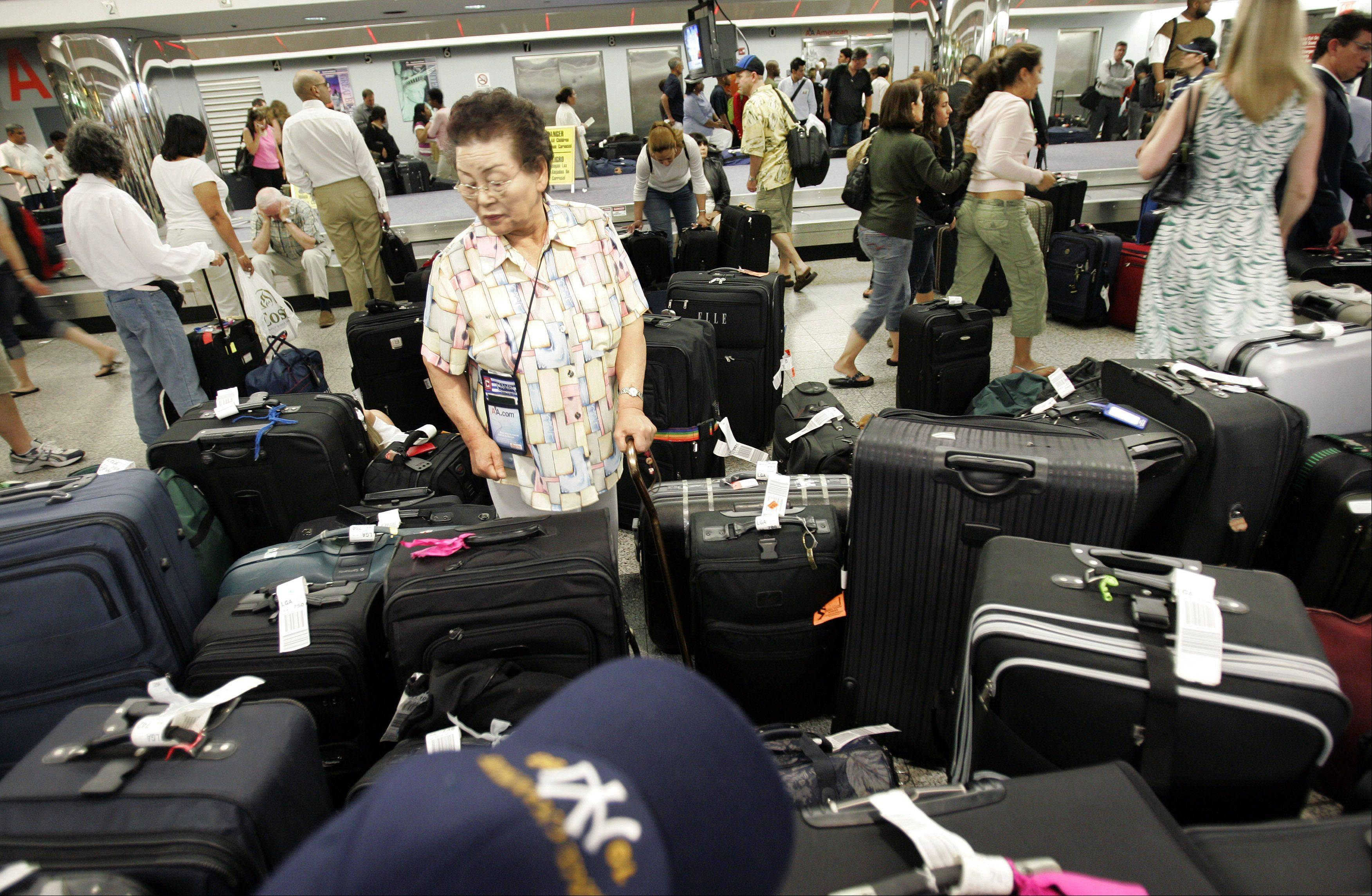 U.S. airlines collected $924 million in baggage fees in the third quarter, almost 3 percent more than in the same period last year.