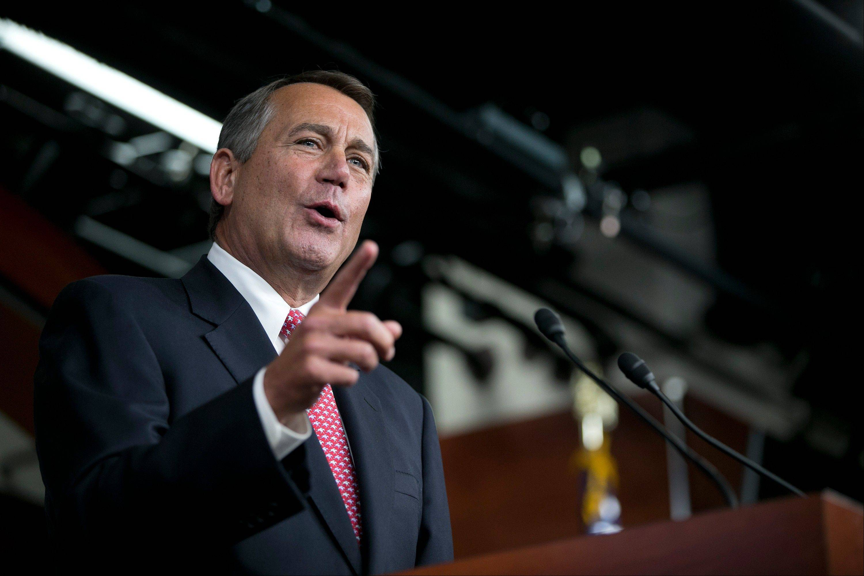 President Barack Obama and House Speaker John Boehner met for a third time at the White House to discuss averting spending cuts and tax increases before a year- end deadline.