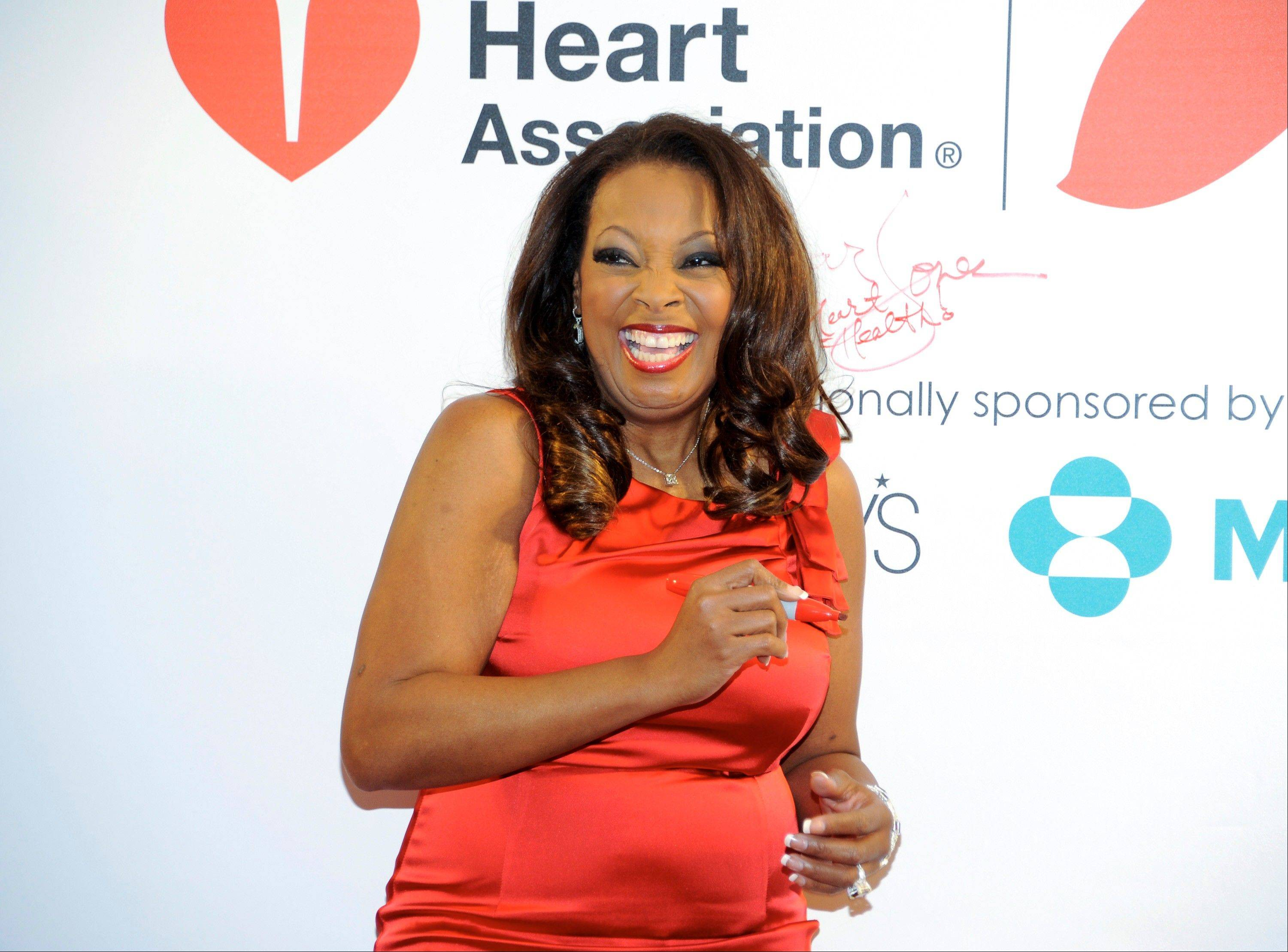 "Television personality Star Jones is promoting the national ""Go Red For Women"" campaign, in support of heart disease awareness."