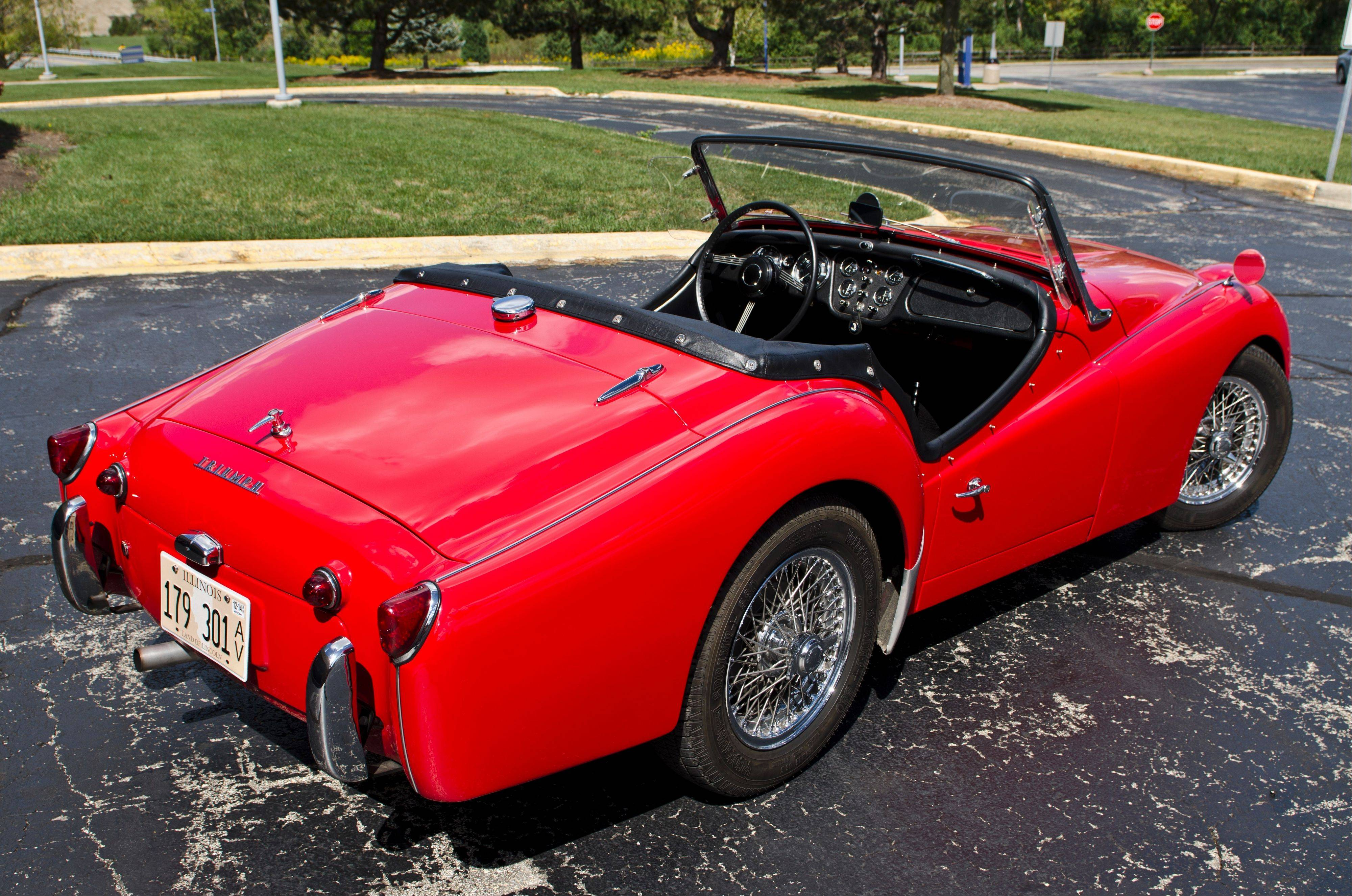 The 1960 TR3A has been Thanos Kourliouros' pride and joy for more than 35 years.