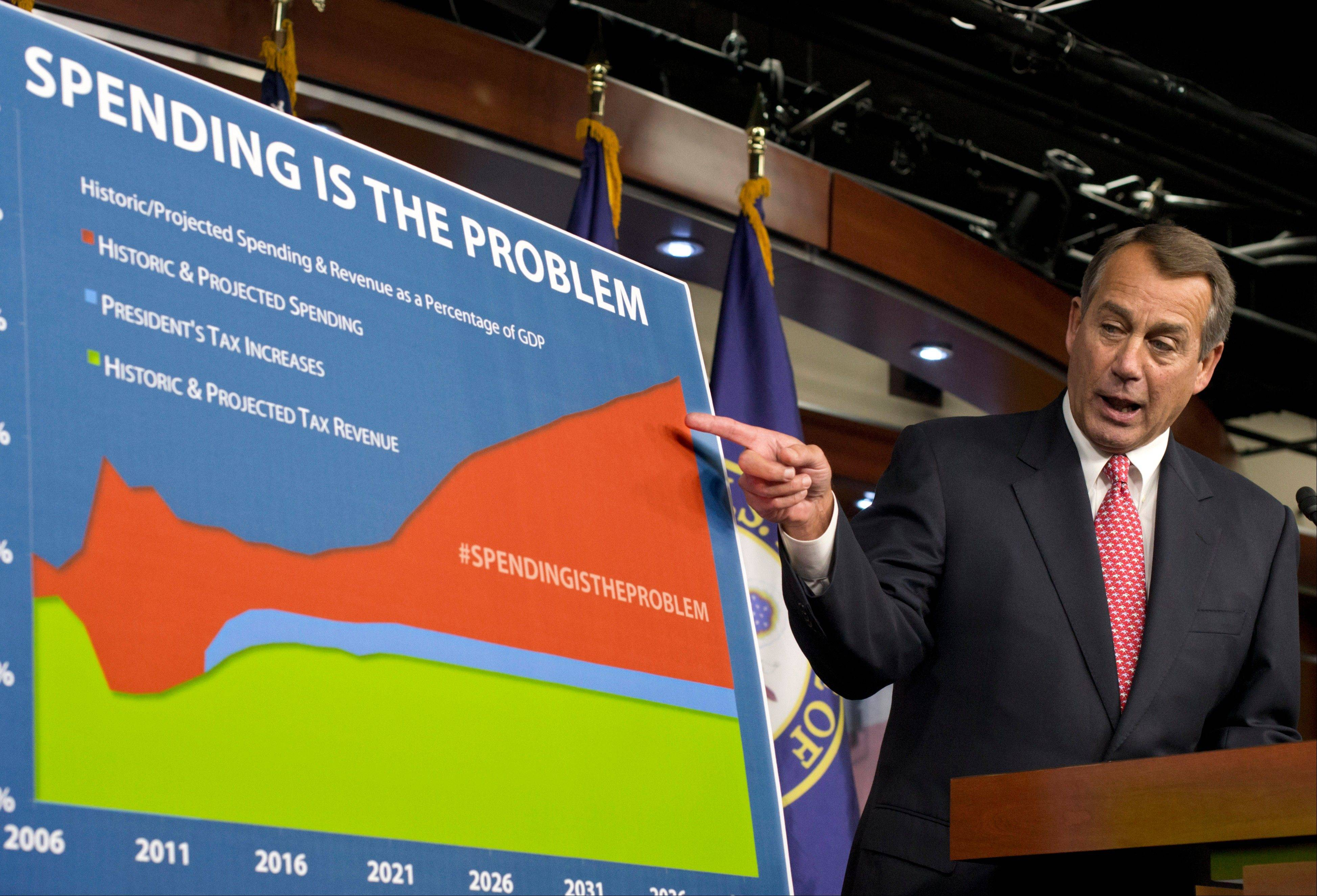 House Speaker John Boehner has offered to raise tax rates on household income above $1 million a year and lift the federal debt ceiling in exchange for containing entitlement program costs. While Obama wants higher rates for income above $250,000, Boehner's offer marked movement because he has opposed increased rates for any income level.
