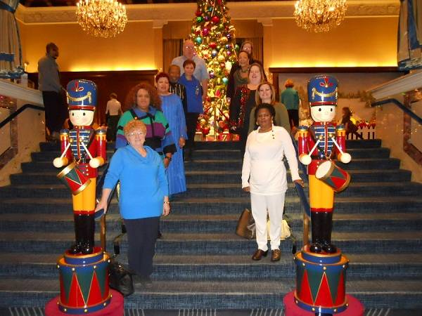Residents of Hines Fisher House and The Heart Of A Marine Foundation enjoy the season at The Drake Hotel