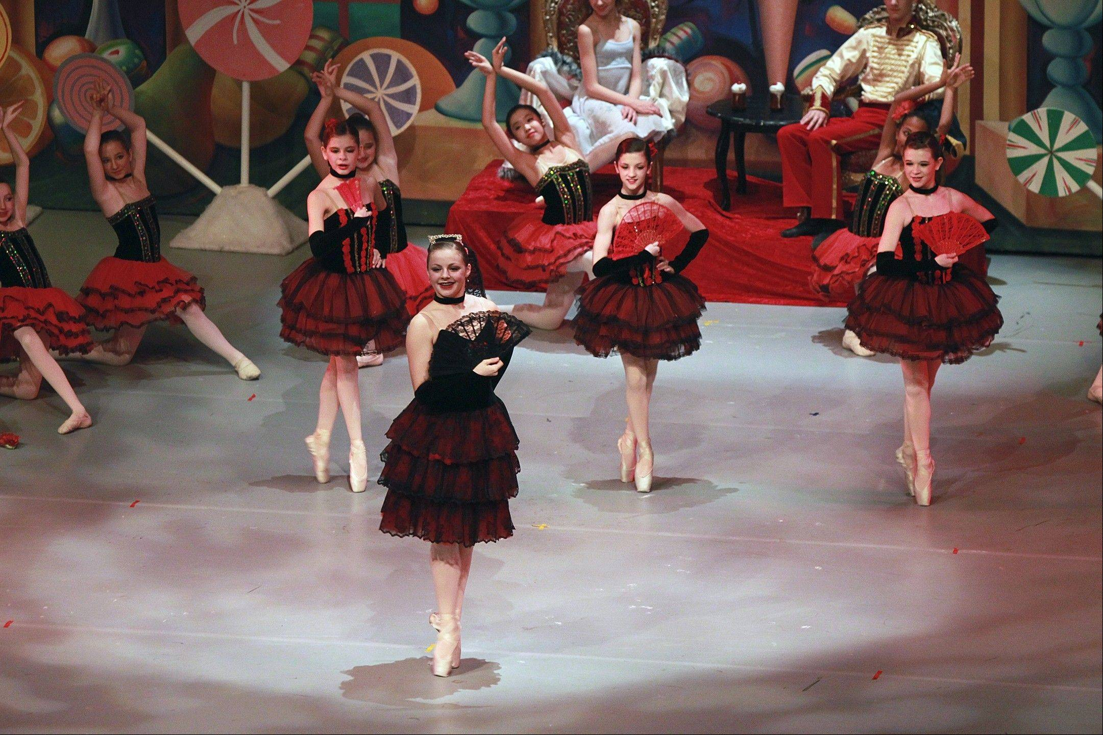 "Dancers perform during Illinois Youth Dance Theatre's 2011 production of ""The Nutcracker."""