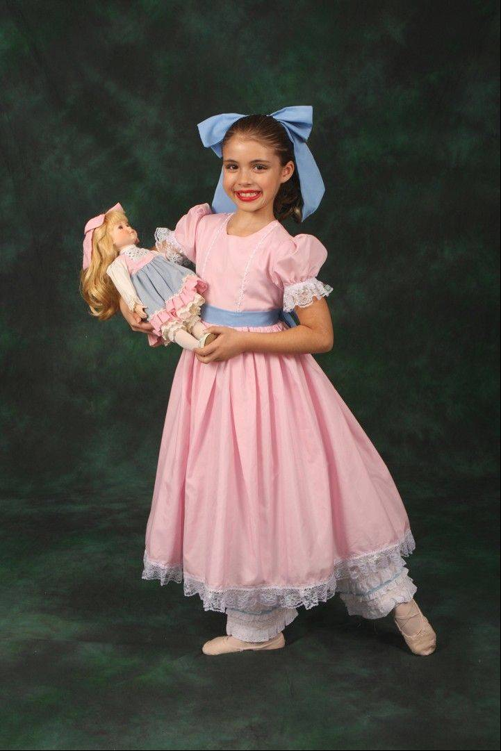 "Marina Halama, 9, from Long Grove plays ""Emma,"" Marie's younger sister, in ""The Nutcracker."""