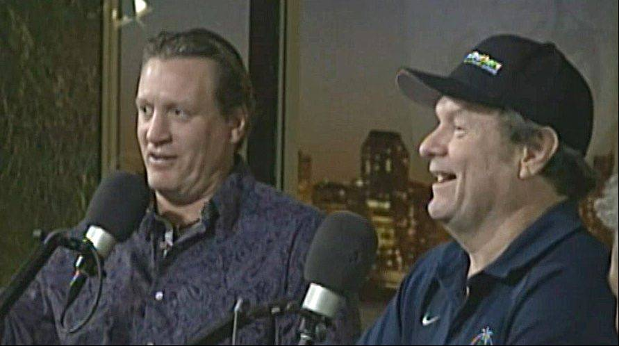 Former Chicago Blackhawks player Jeremy Roenick, left, recently talked with Mike North about his new book, �J.R.: My Life as the Most Outspoken, Fearless, and Hard-Hitting Man in Hockey.�