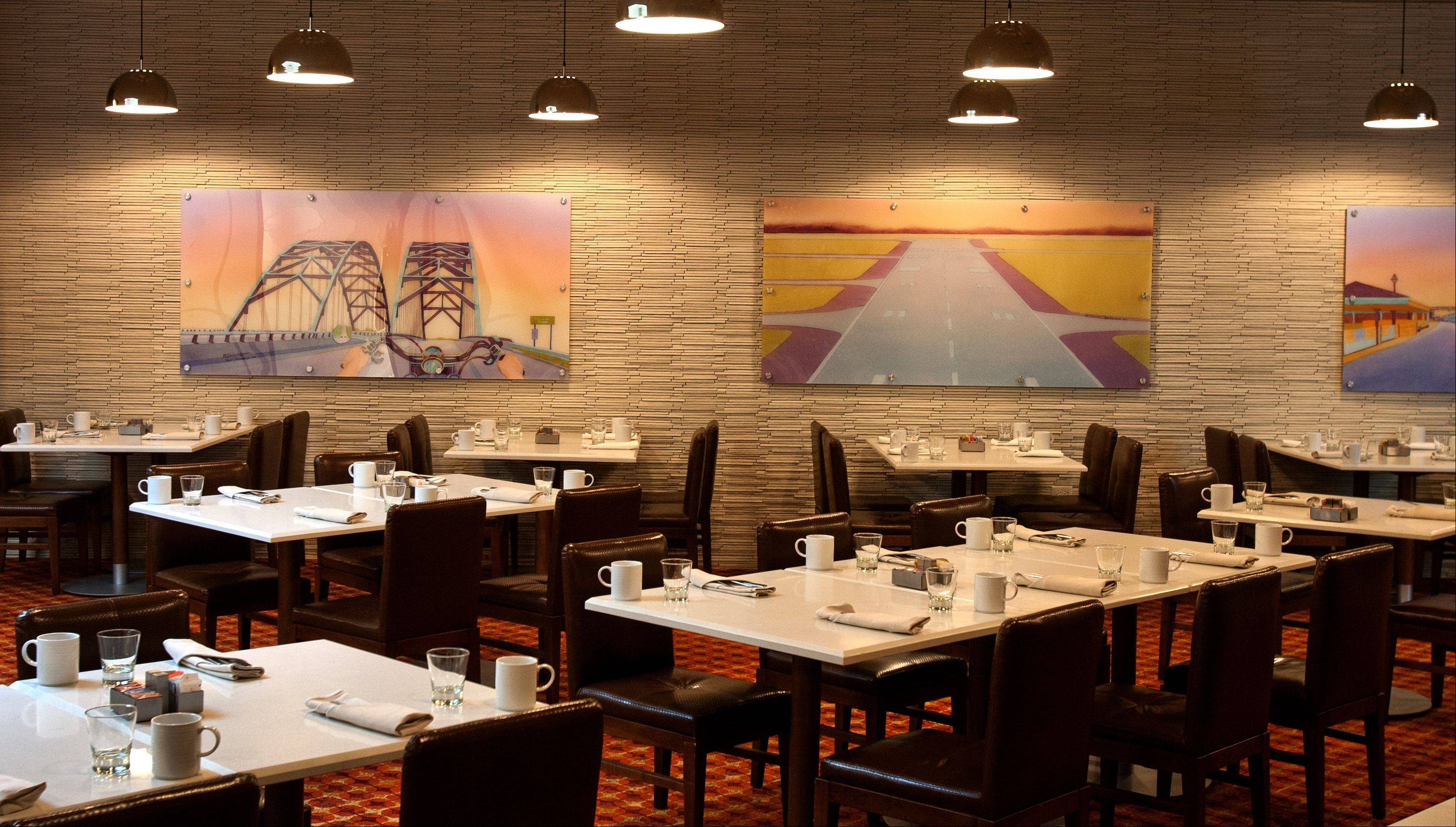 Artisan Table in the Naperville Marriott boasts contemporary decor.