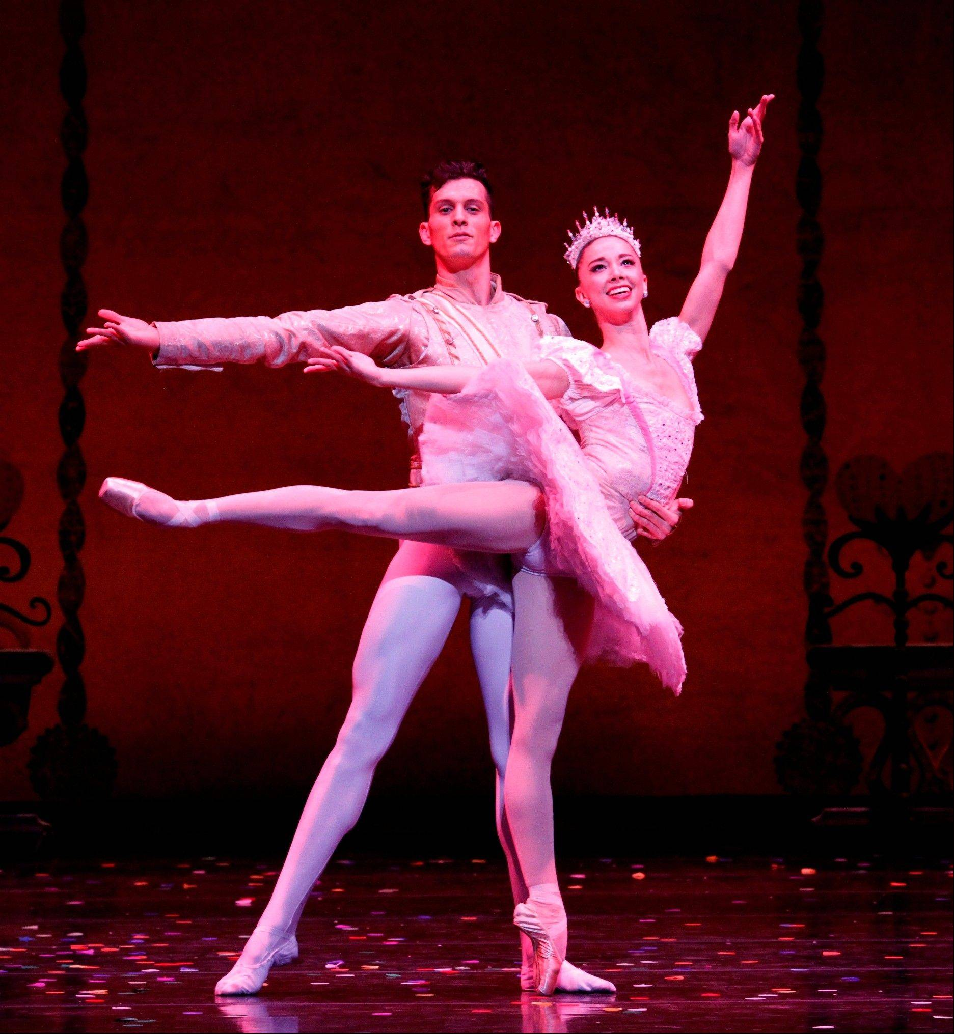 "April Daly stars as the Sugar Plum Fairy and Dylan Guitierrez as her Cavalier in the Joffrey Ballet's ""The Nutcracker"" at the Auditorium Theatre of Roosevelt University in Chicago."