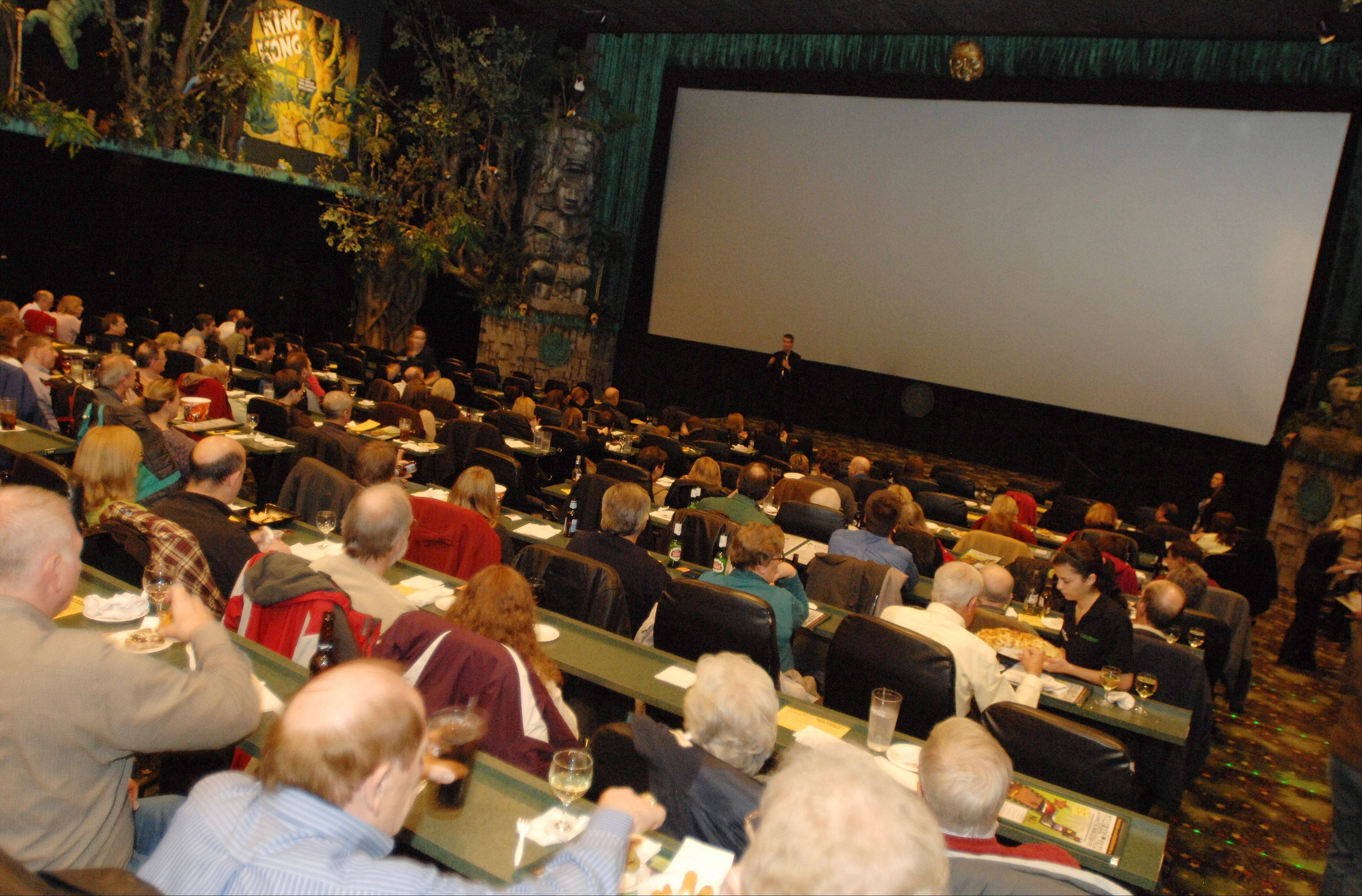 More than 200 Daily Herald Subscriber Total Access members enjoyed a night at the movies with Dann Gire Tuesday at Hollywood Palms in Naperville.