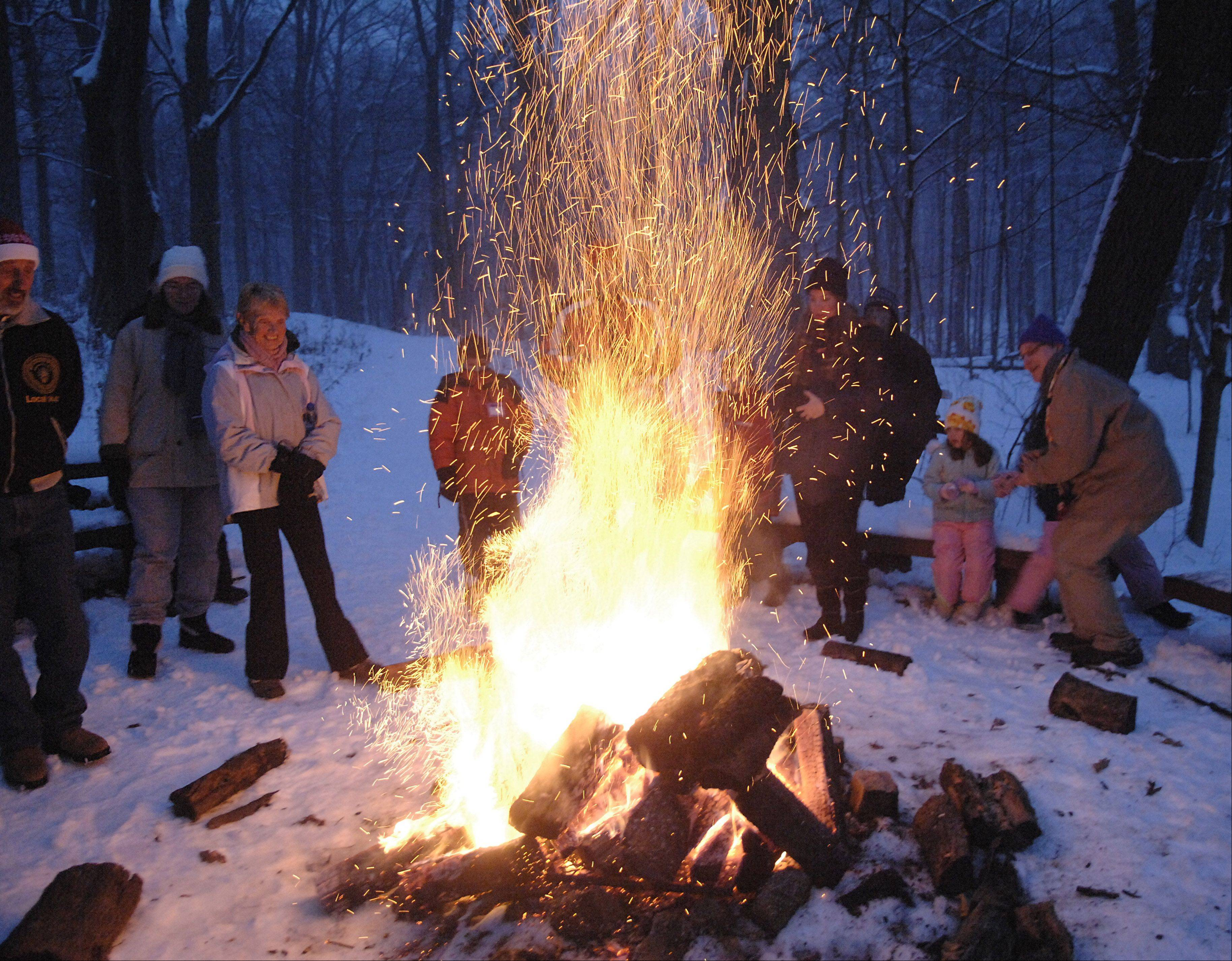 Listen to tales around the campfire on Friday, Dec. 21, when the Forest Preserve District of Kane County holds its annual Winter Solstice Bonfire. Last year's was at Tekakwitha Woods; this year, it will be at LeRoy Oakes in St. Charles.