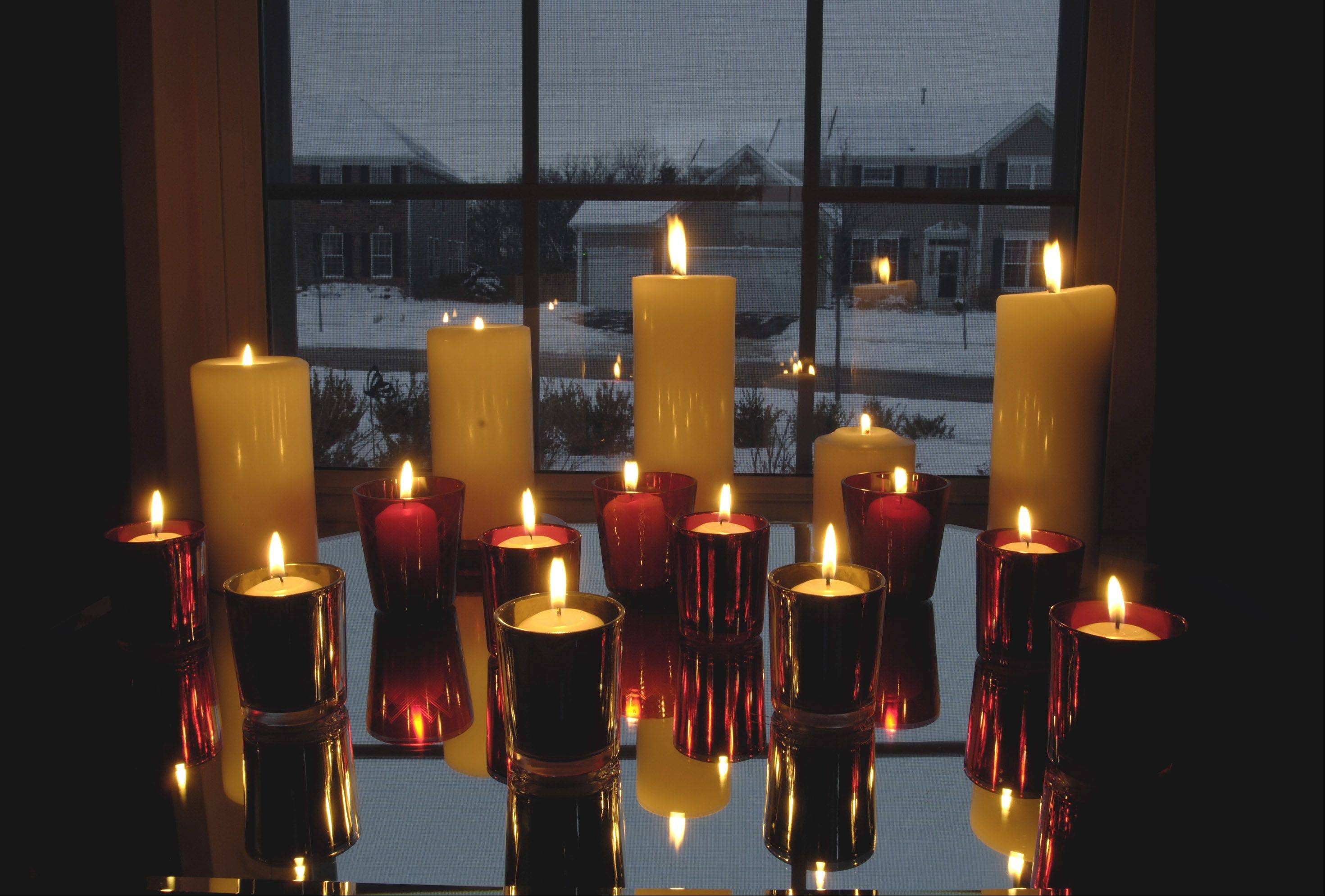 Although the days will begin growing longer after Dec. 21, candles are a good way to light up the early winter evenings.