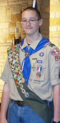 Zac with his Eagle Scout Medal