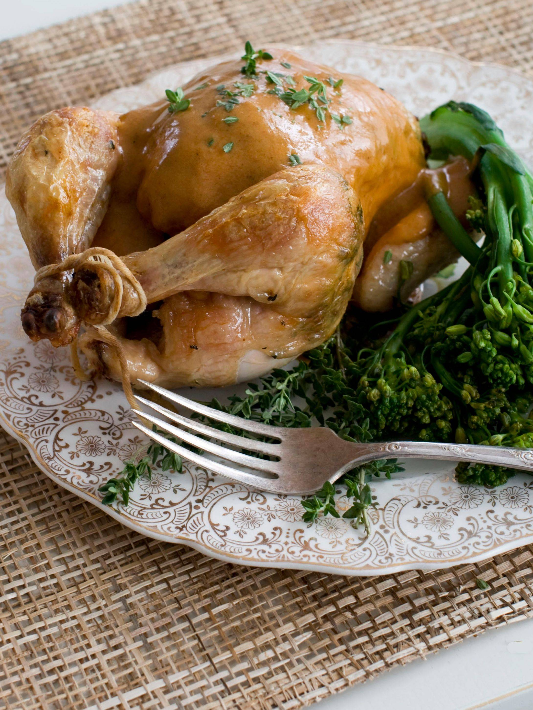 Roast Cornish hens for a small, yet grand holiday Christmas feast