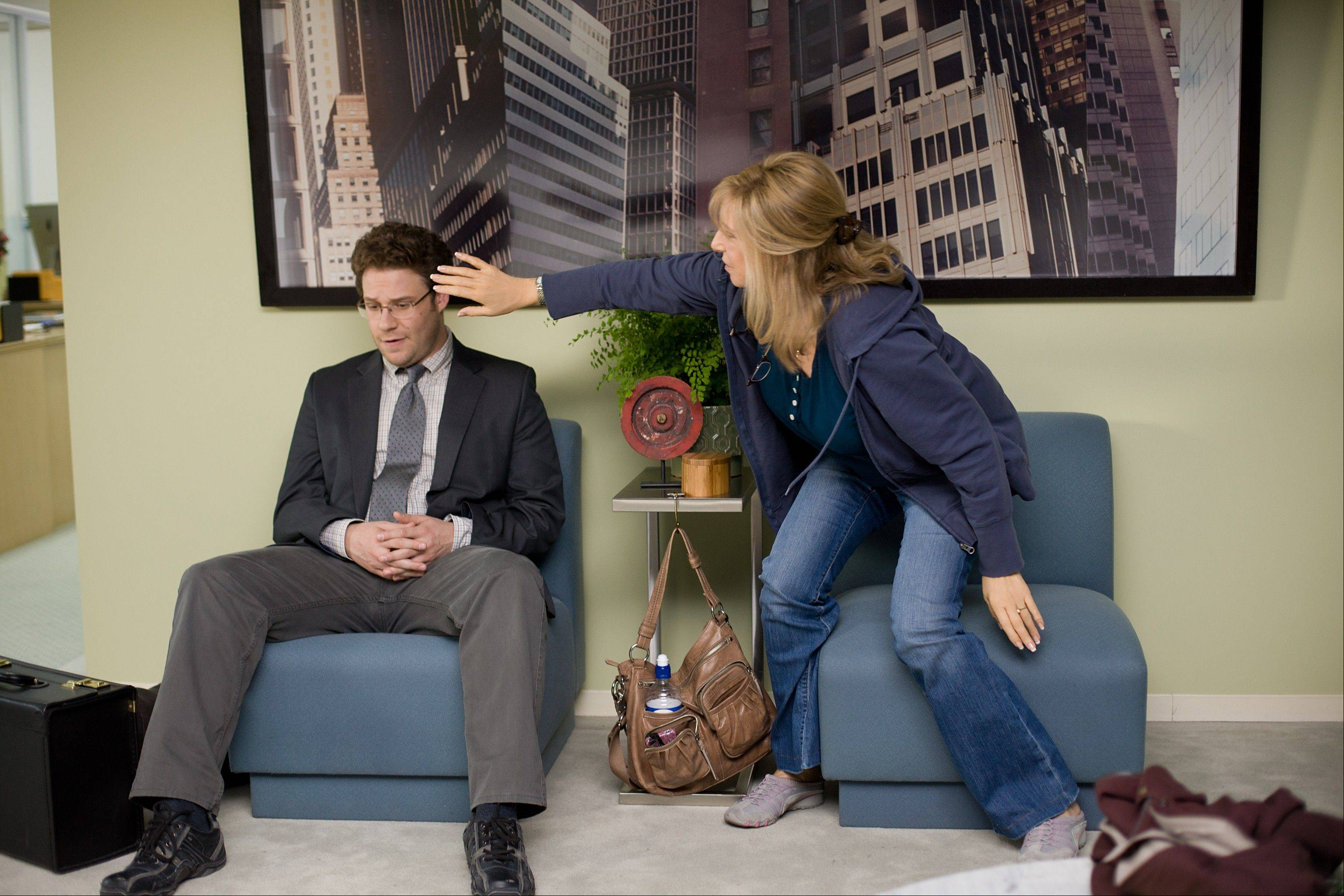 Andrew (Seth Rogen), left, gets grief from his mother (Barbra Streisand) in �The Guilt Trip.�