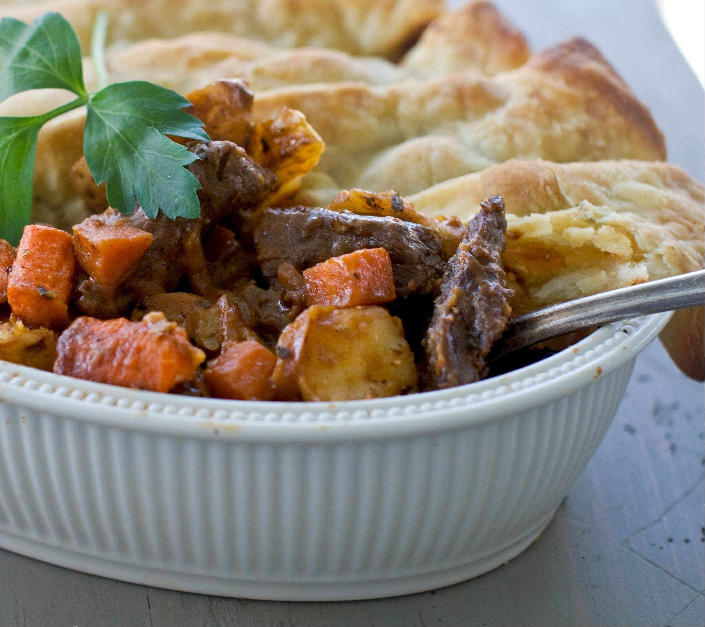 Classic pot pie reinvented for Christmas dinner