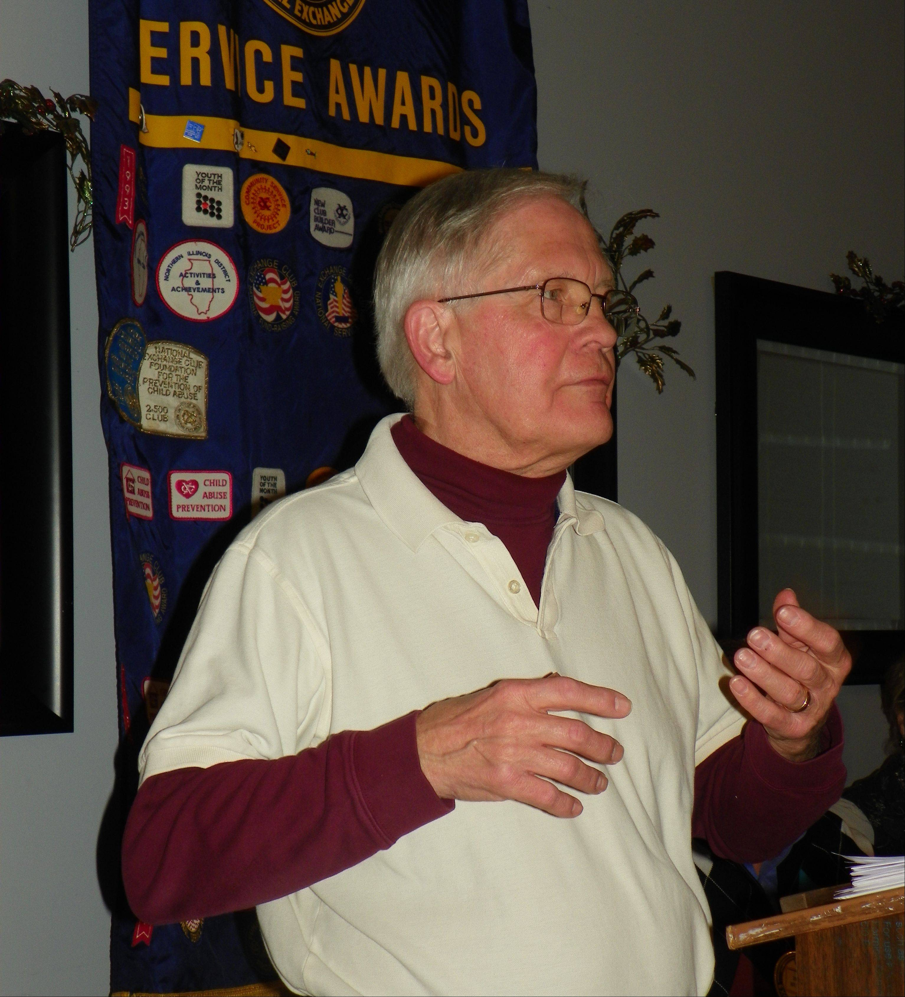 The Rev. William Beckmann of Immanuel Lutheran Church in Batavia shared his annual holiday message to the Tri-Cities Exchange Club last week.