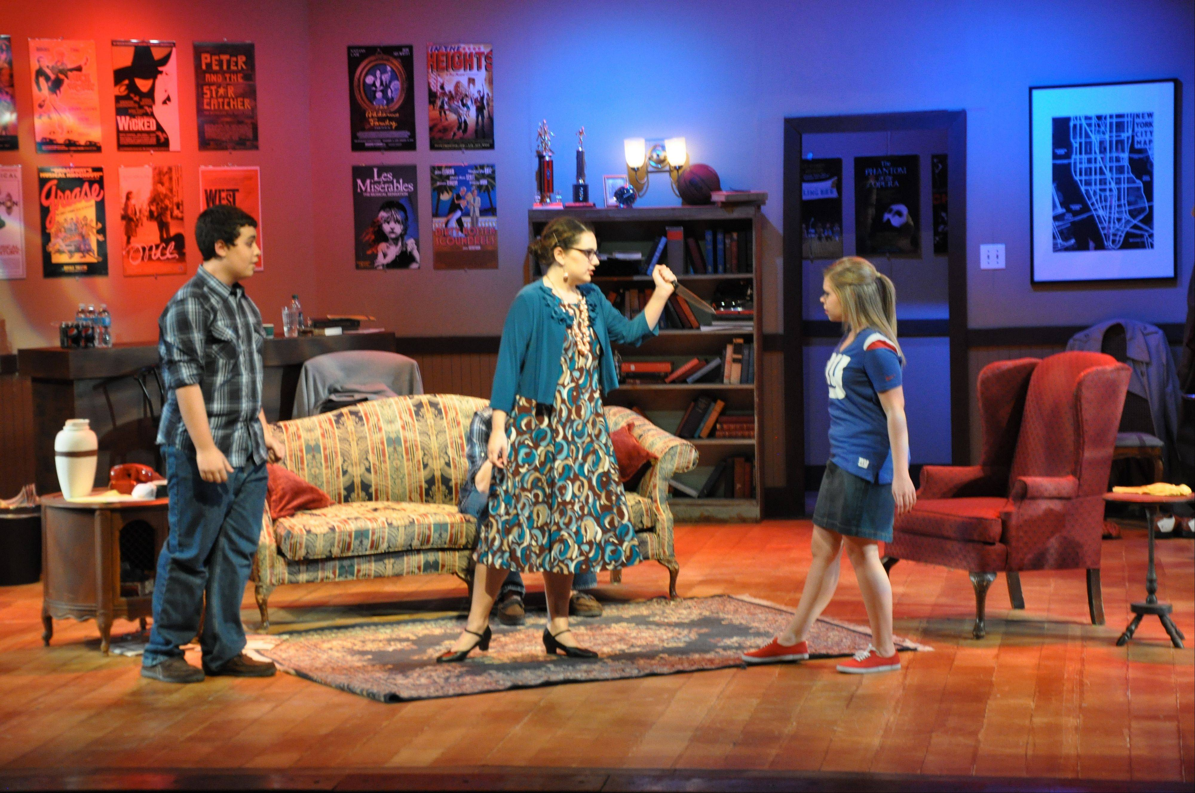 From left, actors Jake Rosenberg, Sarah Rosenberg and Natalia Torchalski.