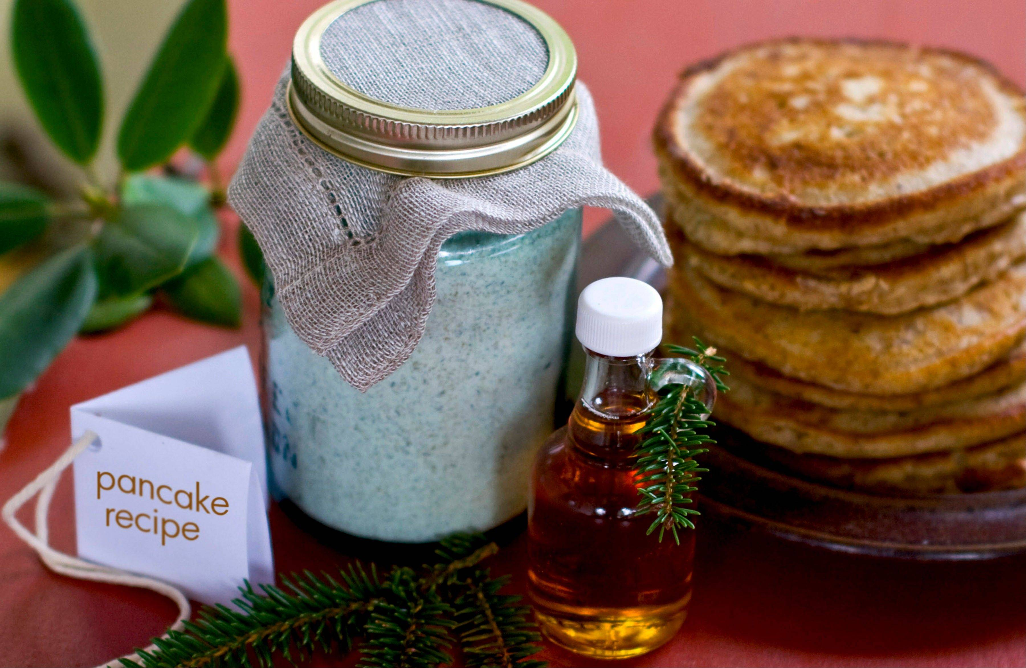 Make someone's holiday bright and healthy with homemade pancake and waffle mix.