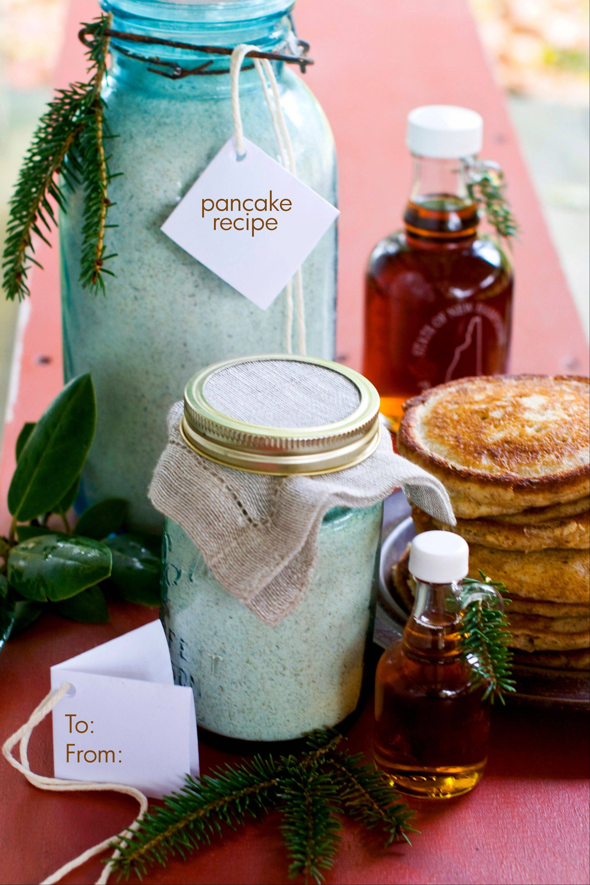 Make someone's holiday with healthy homemade pancake and waffle mix.