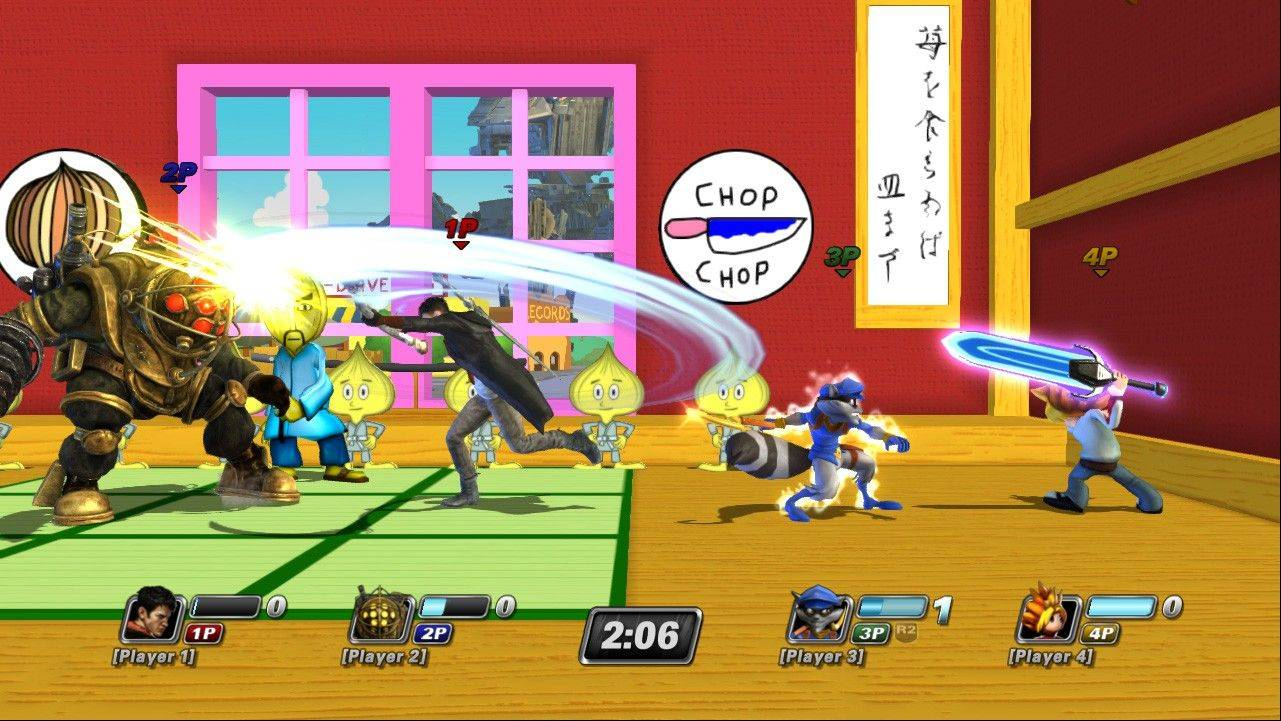 """PlayStation All-Stars Battle Royale"" pits some of gamers' favorite PlayStation characters in an assortment of game-inspired arenas."
