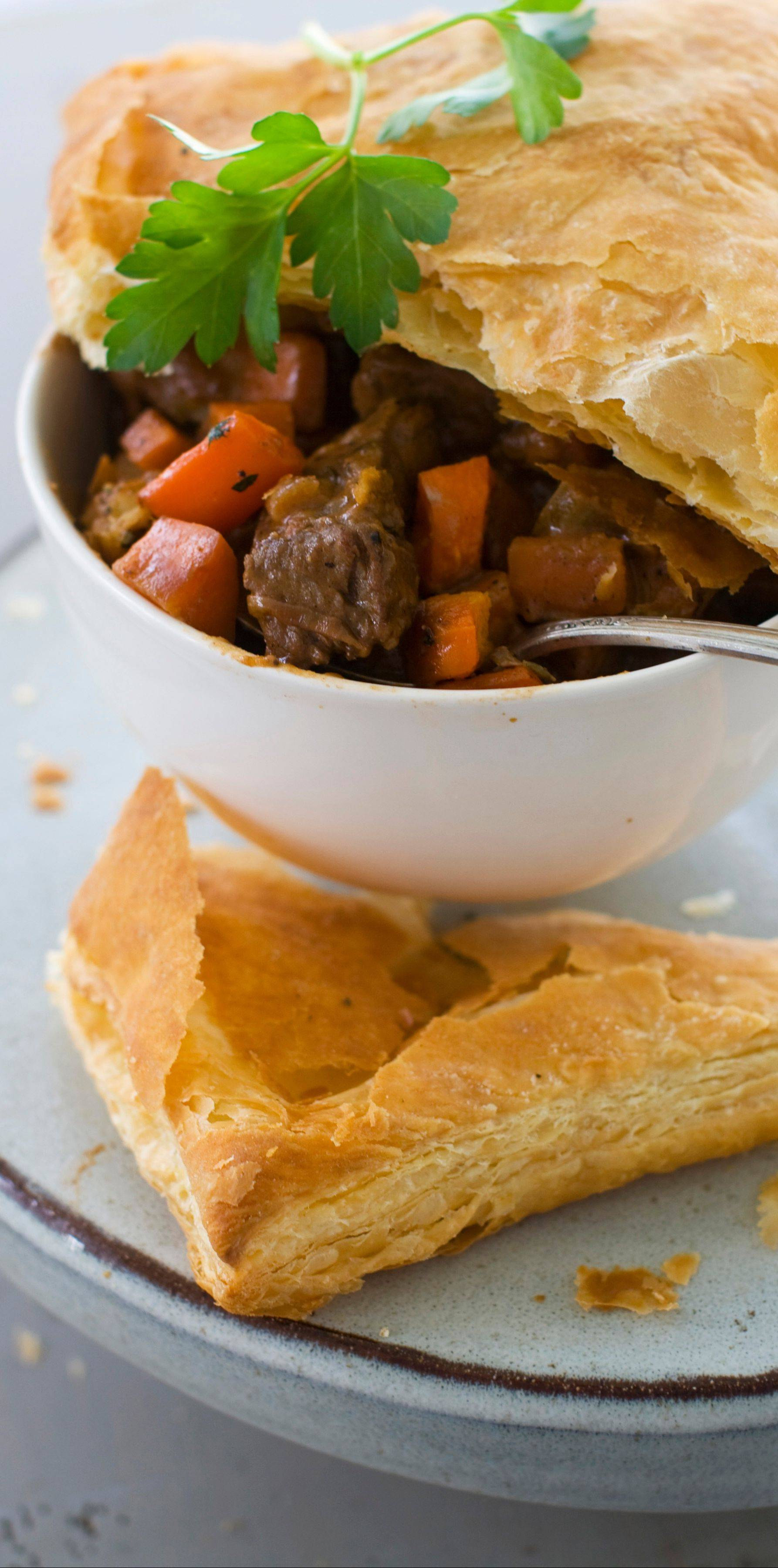 Beef Potpie is as comforting as it is elegant for Christmas dinner.