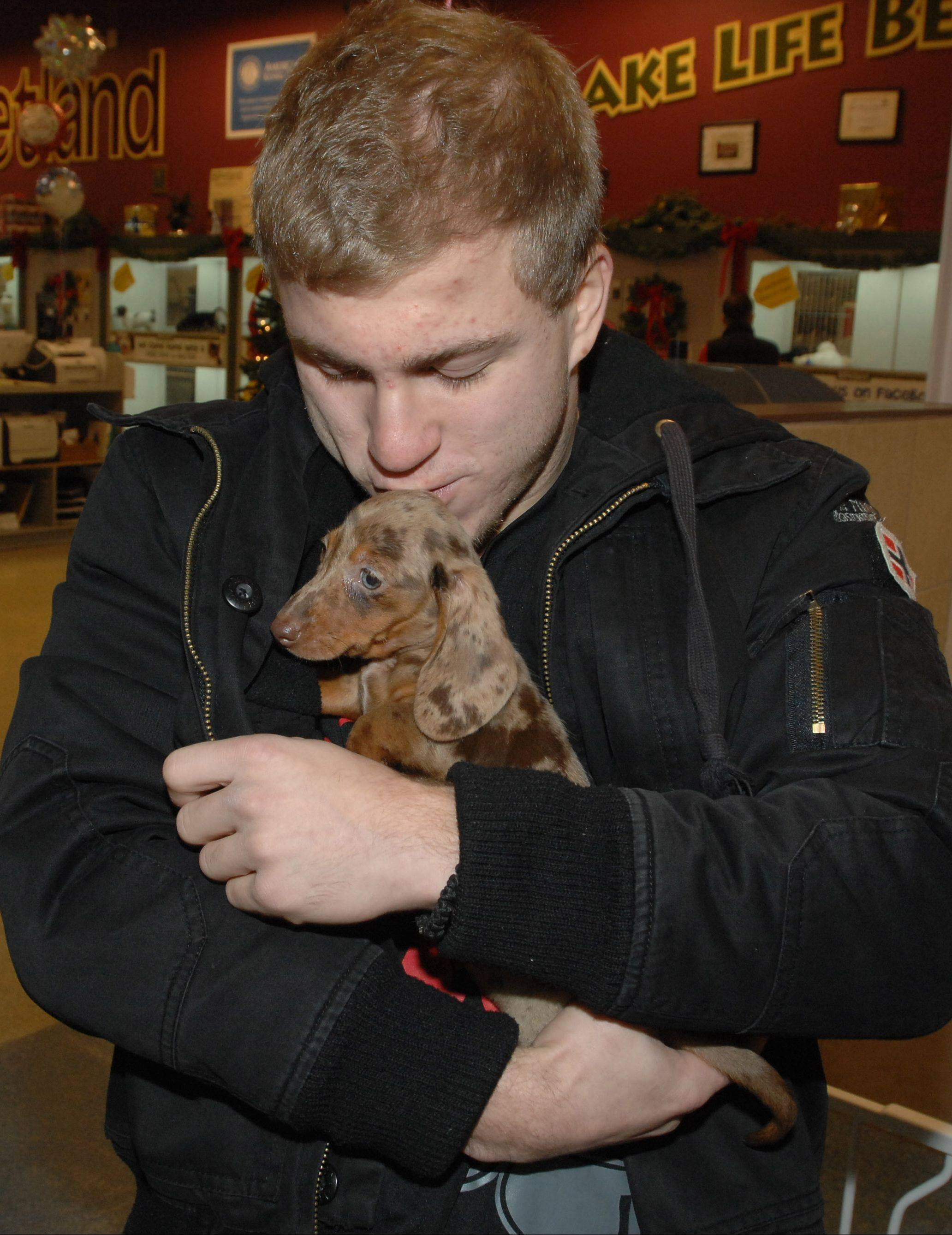 Petland Naperville donated a Dachshund to Matt Plackowski, the oldest son of Elzbieta Plackowska. Plackowska is accused of killing two children, including Matt's brother, and the family dog.