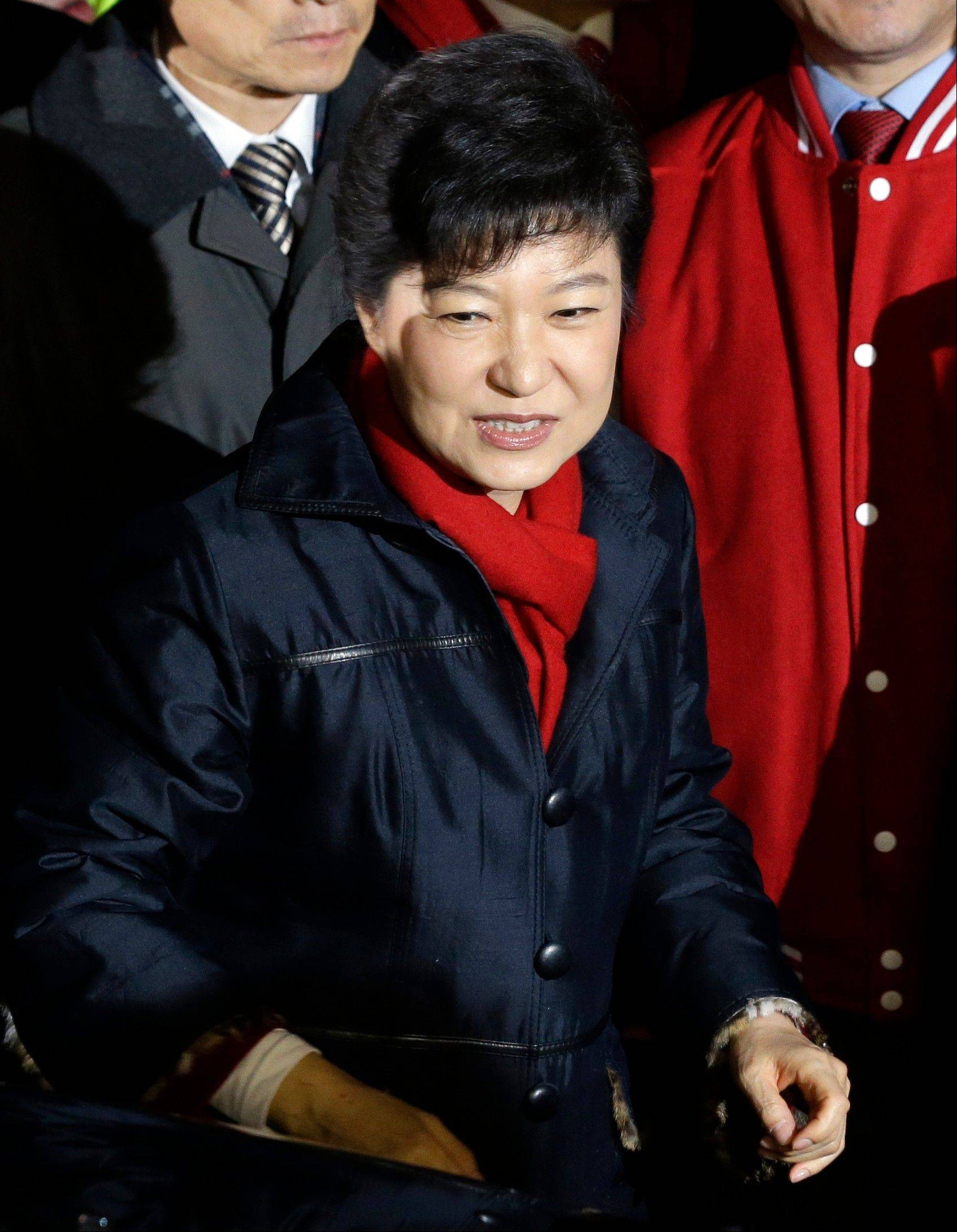 Ruling-party candidate Park Geun-hye was elected South Korean president Wednesday, becoming the country's first female leader despite the incumbent's unpopularity and her own past as the daughter of a divisive dictator.