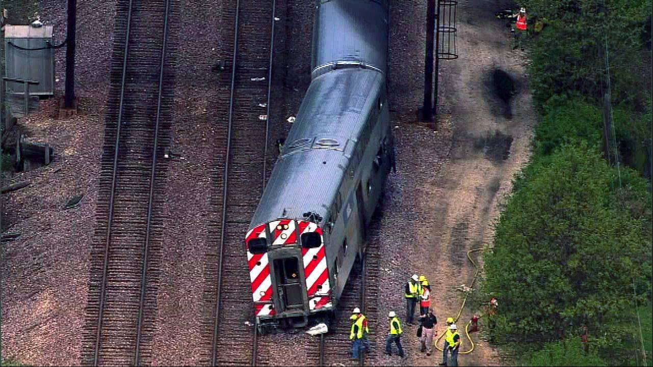 Photo Courtesy of ABC 7The aftermath of a collision between a Metra train and a dump truck in May 2011 in Mount Prospect.