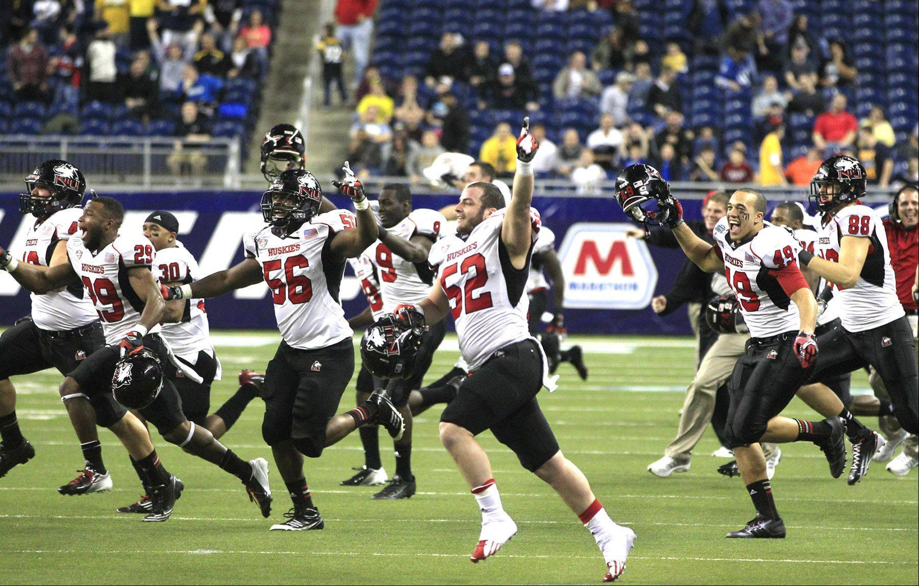 Since the Northern Illinois Huskies celebrated their MAC title win over Kent State, enrollment requests are up 33 percent at the university. NIU (12-1) will play Florida State in the Orange Bowl on Jan. 1.