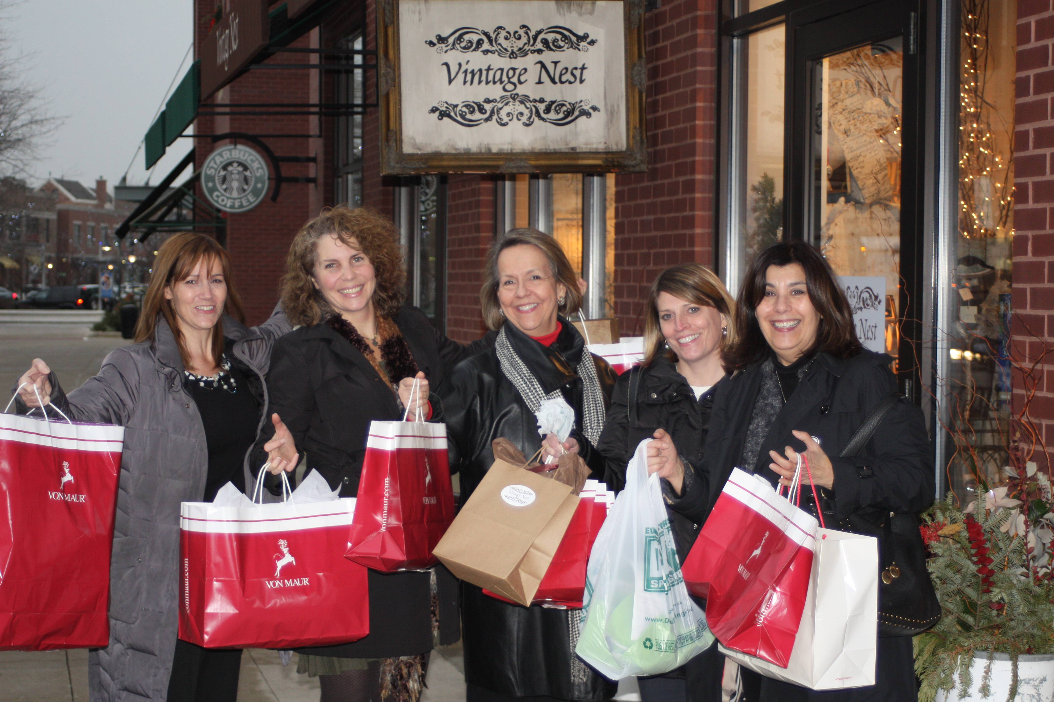 Designers at DDK following their 90-minute Glenview shopping spree