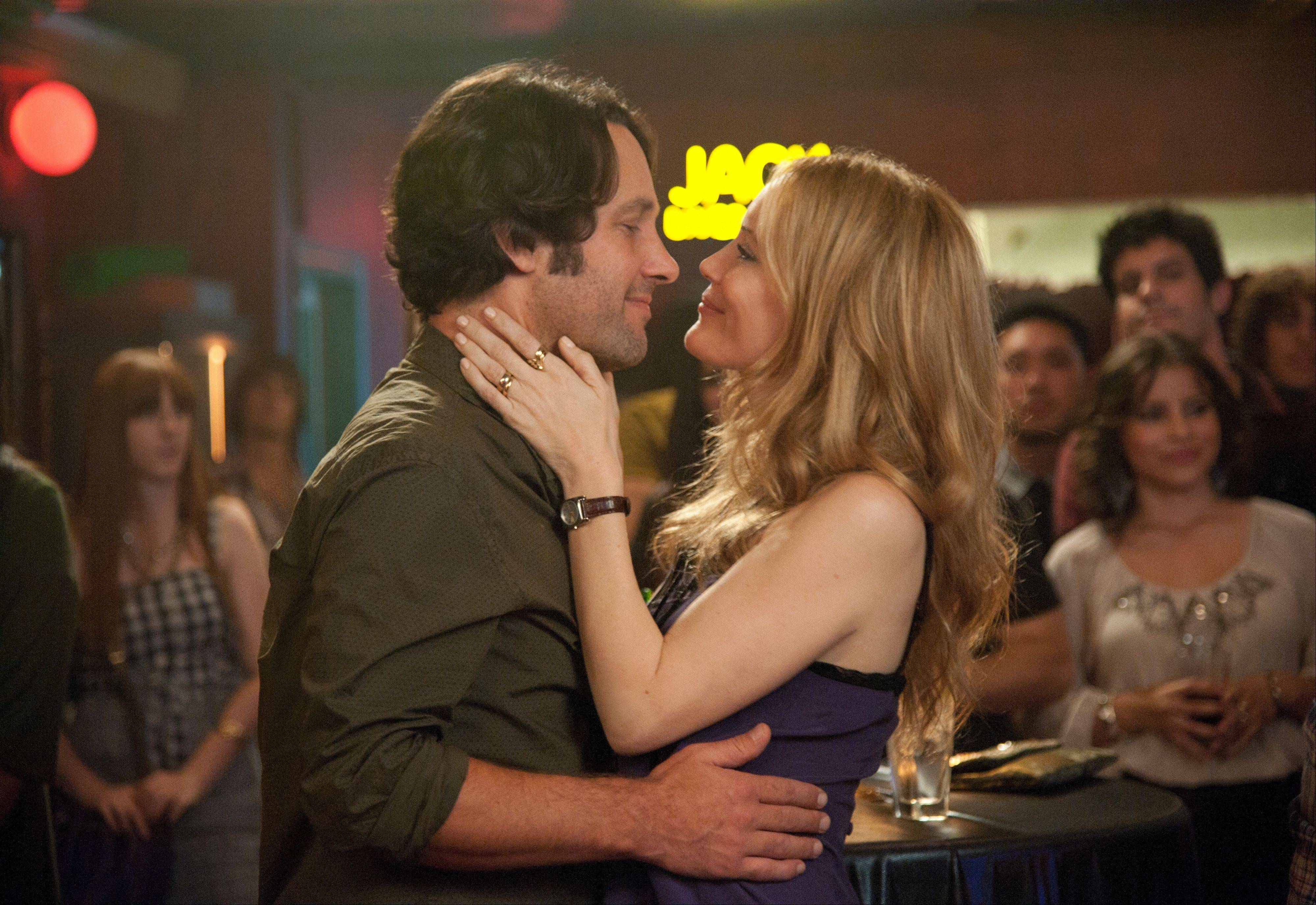 "Pete (Paul Rudd) and Debbie (Leslie Mann) face a milestone birthday in the comedy ""This is 40."""